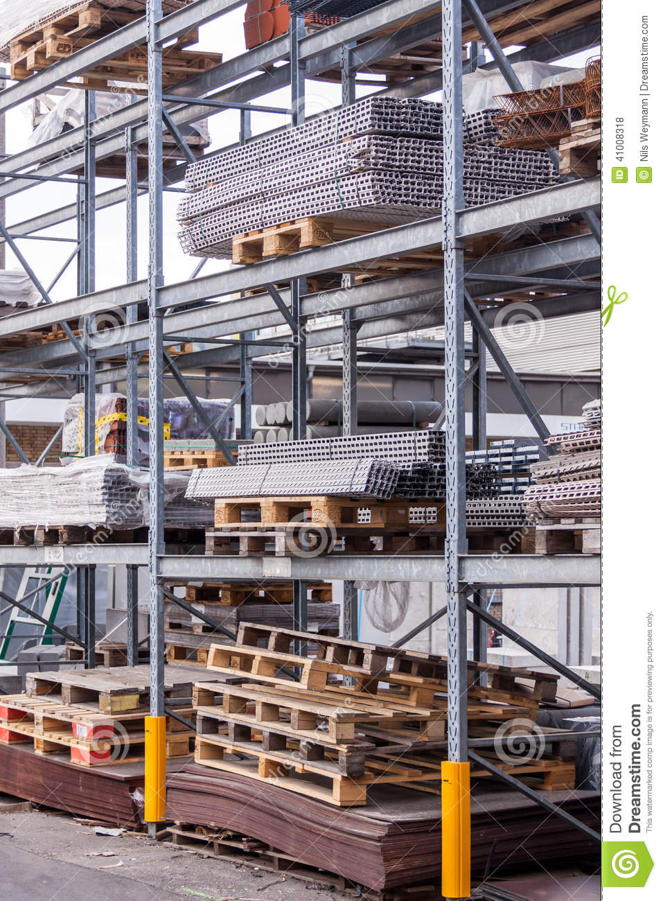 Building And Construction Materials In A Warehouse Stock Photo - Image ...