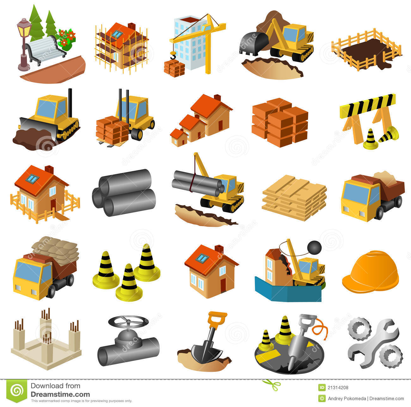 Building Construction Clip Art : Building and construction set royalty free stock photos