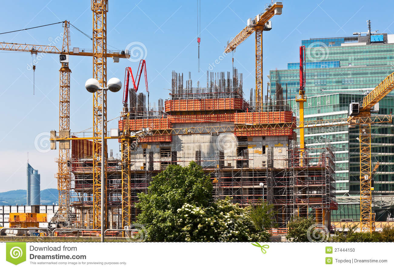Building construction site stock photo image 27444150 for Images of building sites