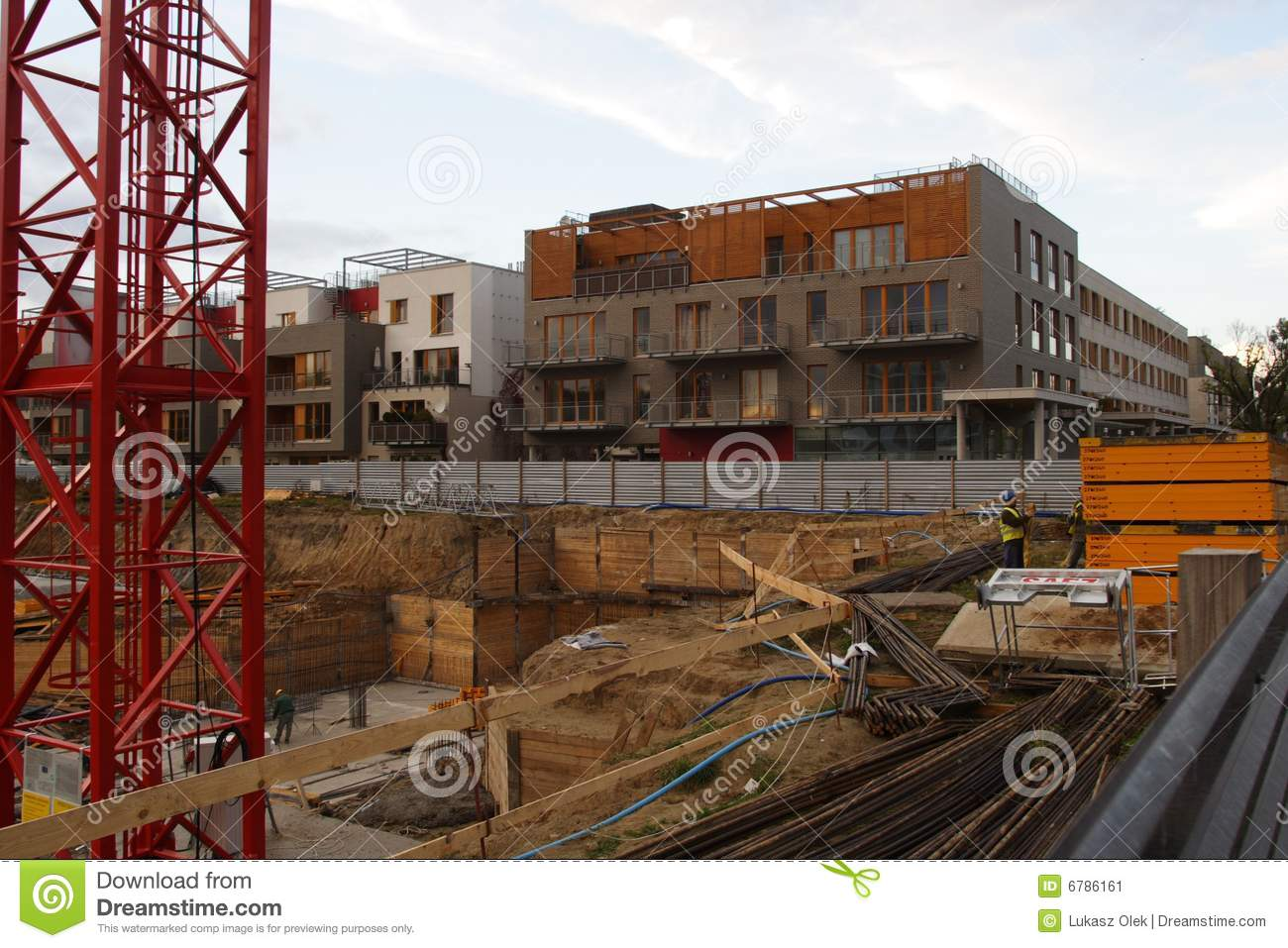 Stock image building construction site