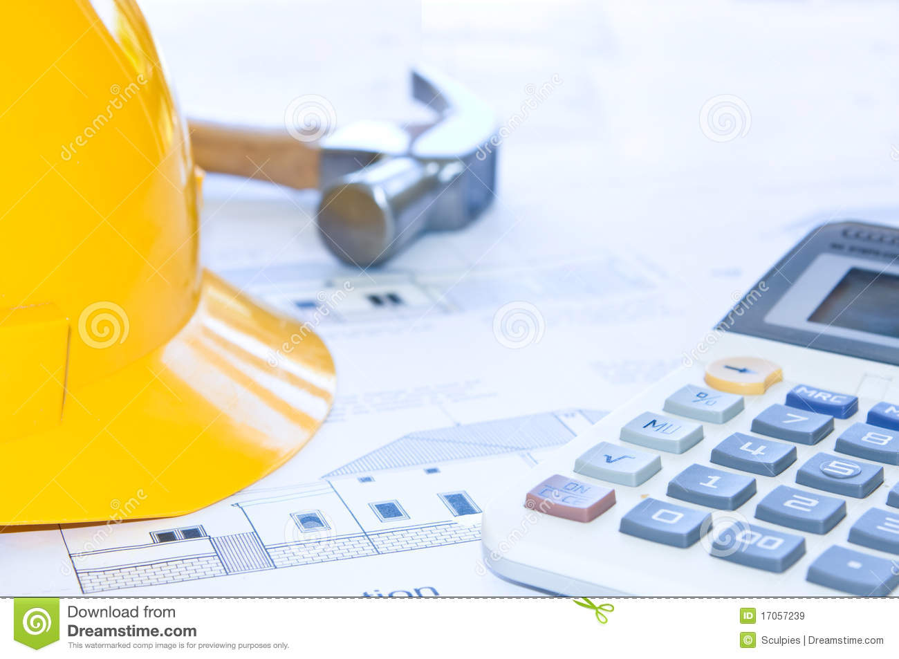 Building cost stock image image of calculator focus for Building cost calculator free