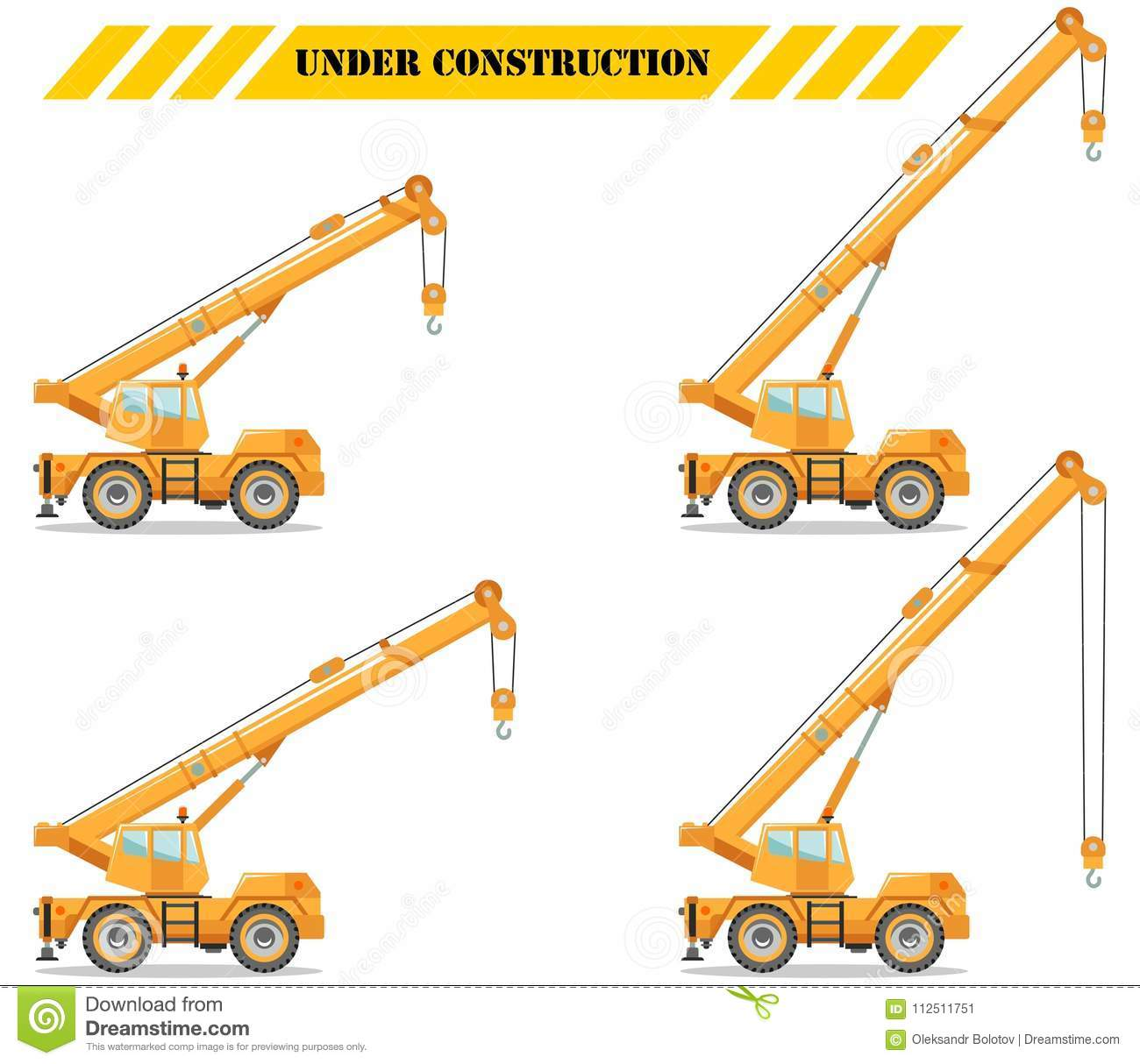 Building Crane Truck With Different Boom Position Heavy Equipment