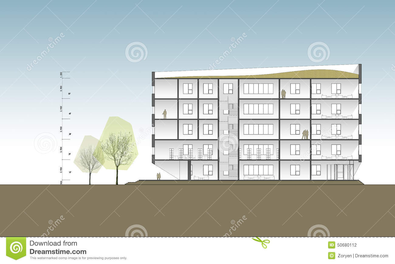 Building Cross Section Stock Photo Image Of Apartments