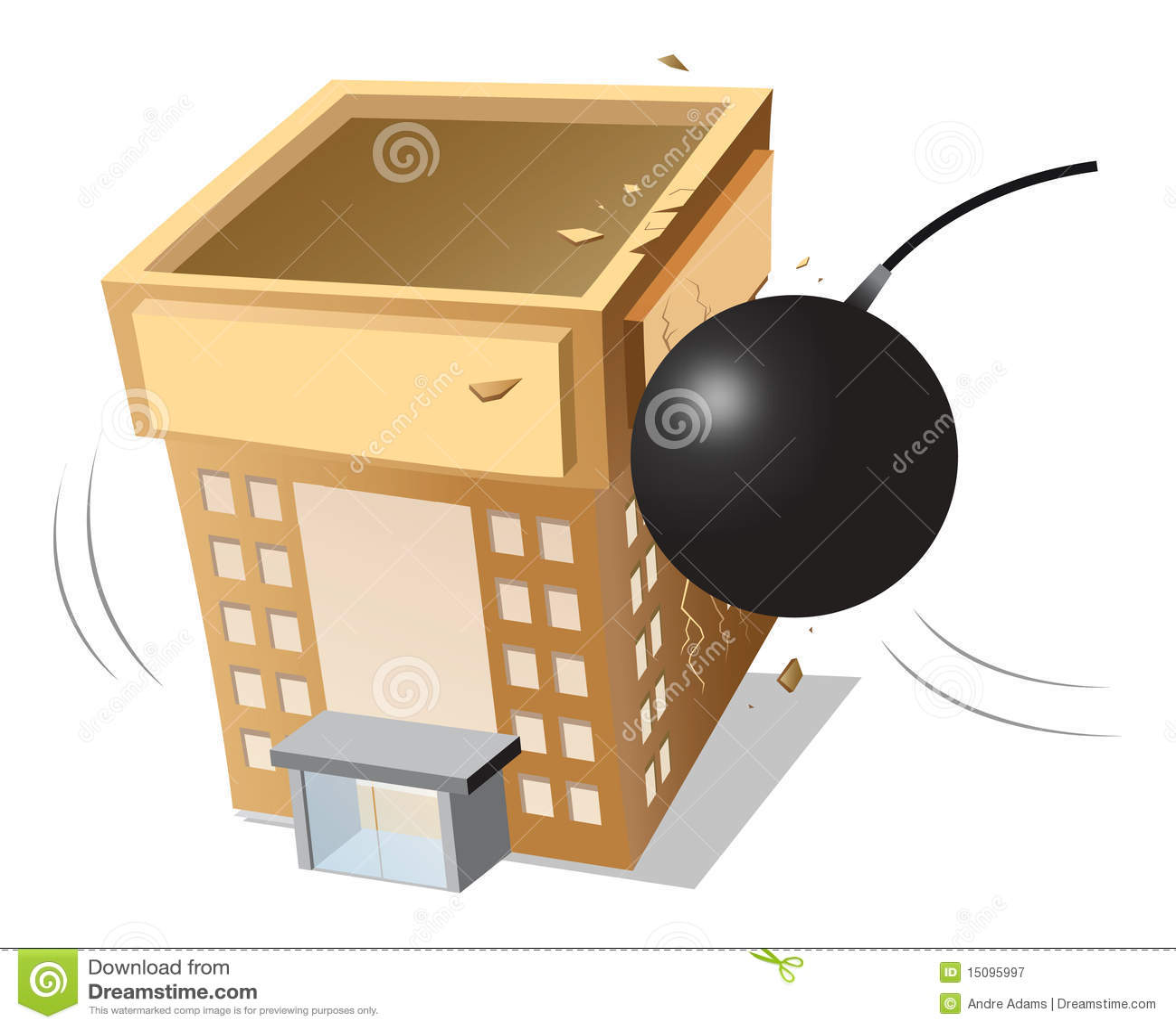 Building Demolition Cartoon : Building demolished royalty free stock photography image