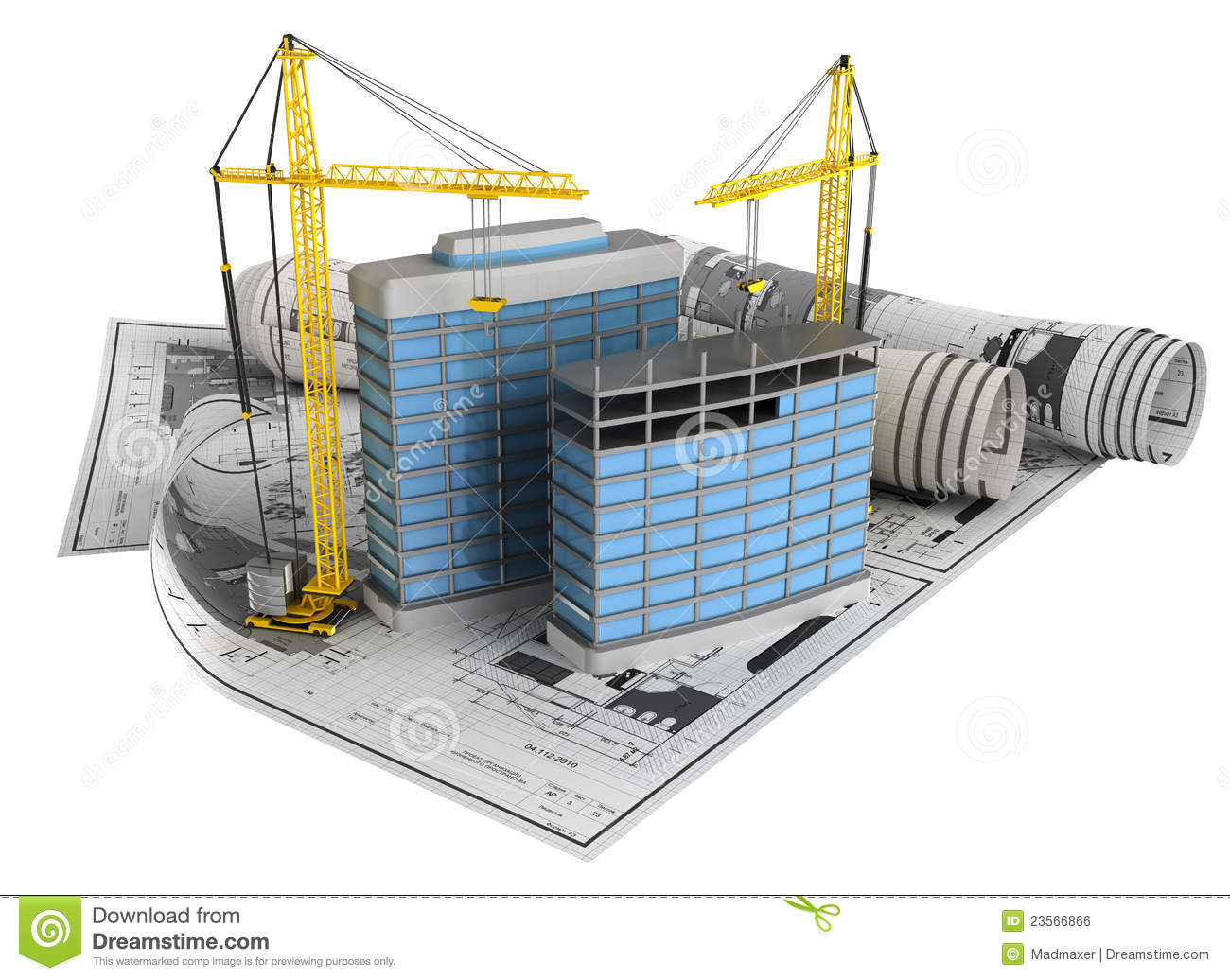 Building design concept royalty free stock image image for Architecture et construction 3d