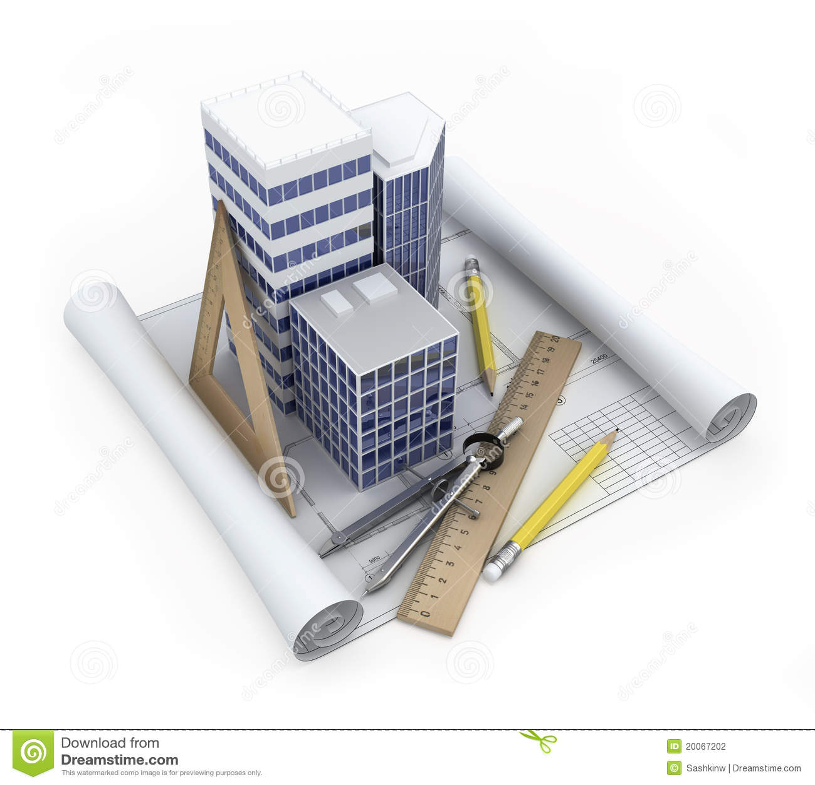 Stock Photography Building Development Concept Image20067202 on White House 3d Blueprint