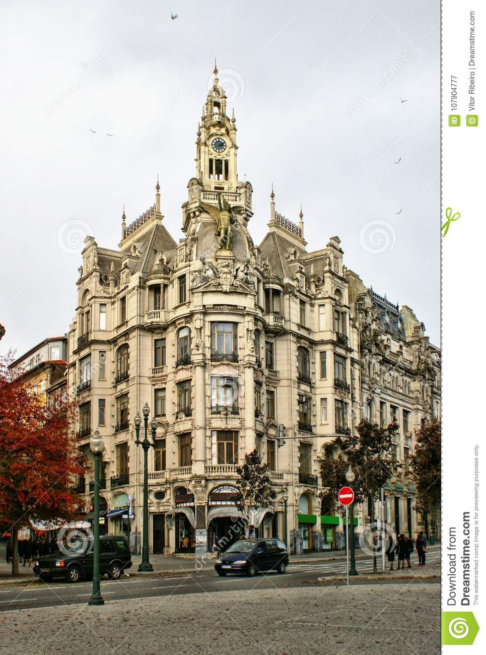 Building in downtown of Oporto