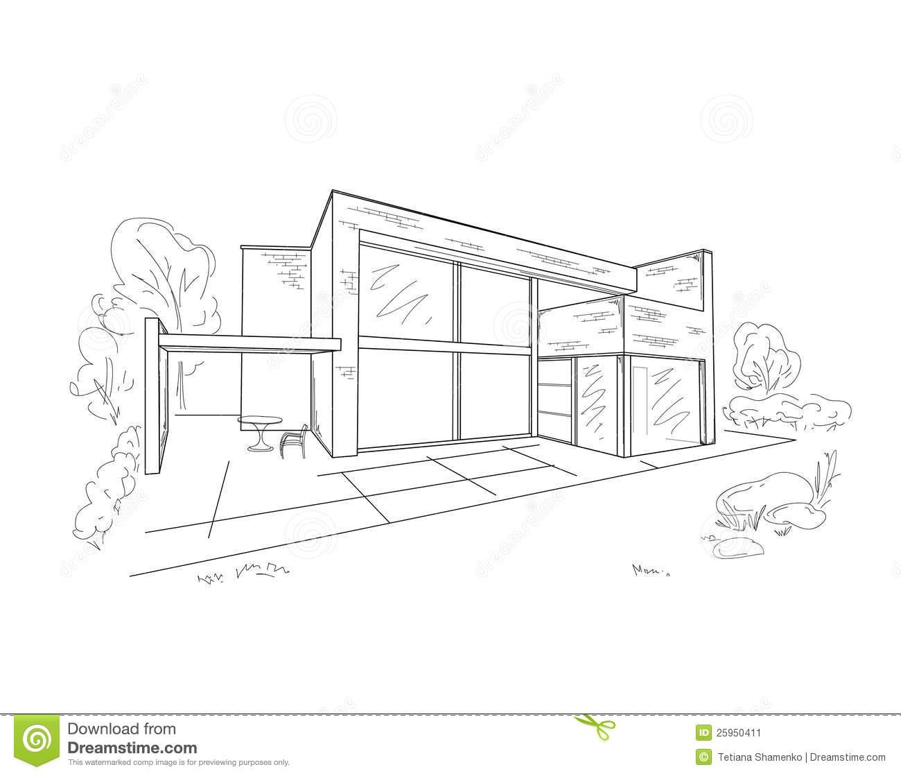 Building Drawing Stock Image Image 25950411
