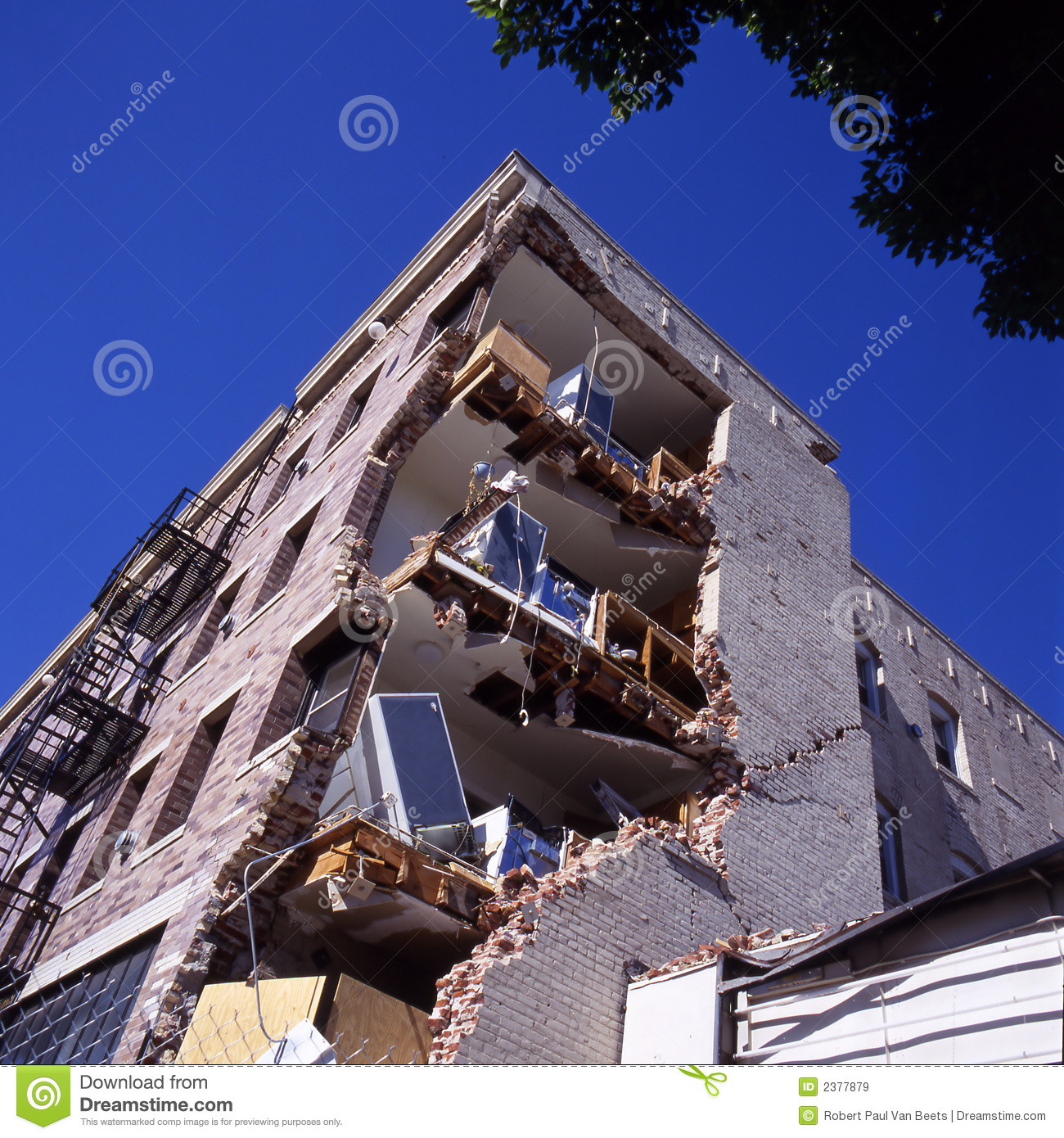 Building After Earthquake Stock Image Image Of Magnitude