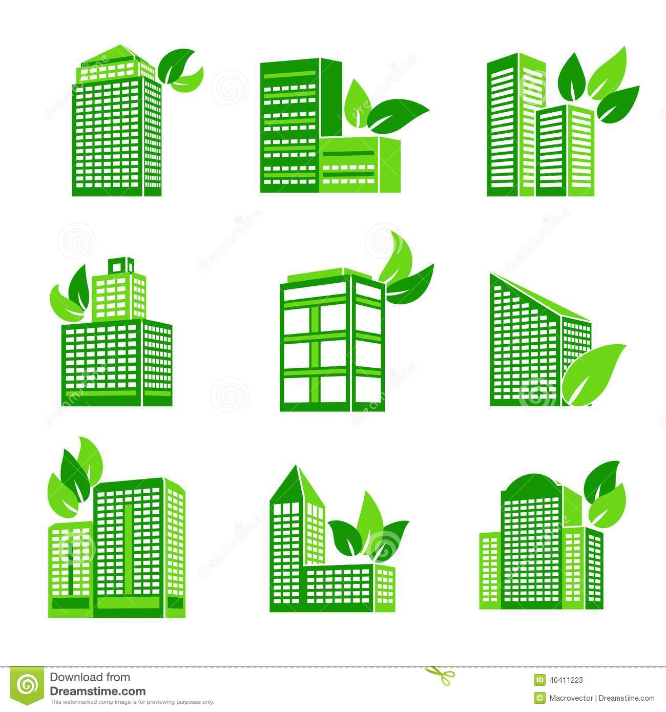 Building eco icon stock vector illustration of real for Green design company