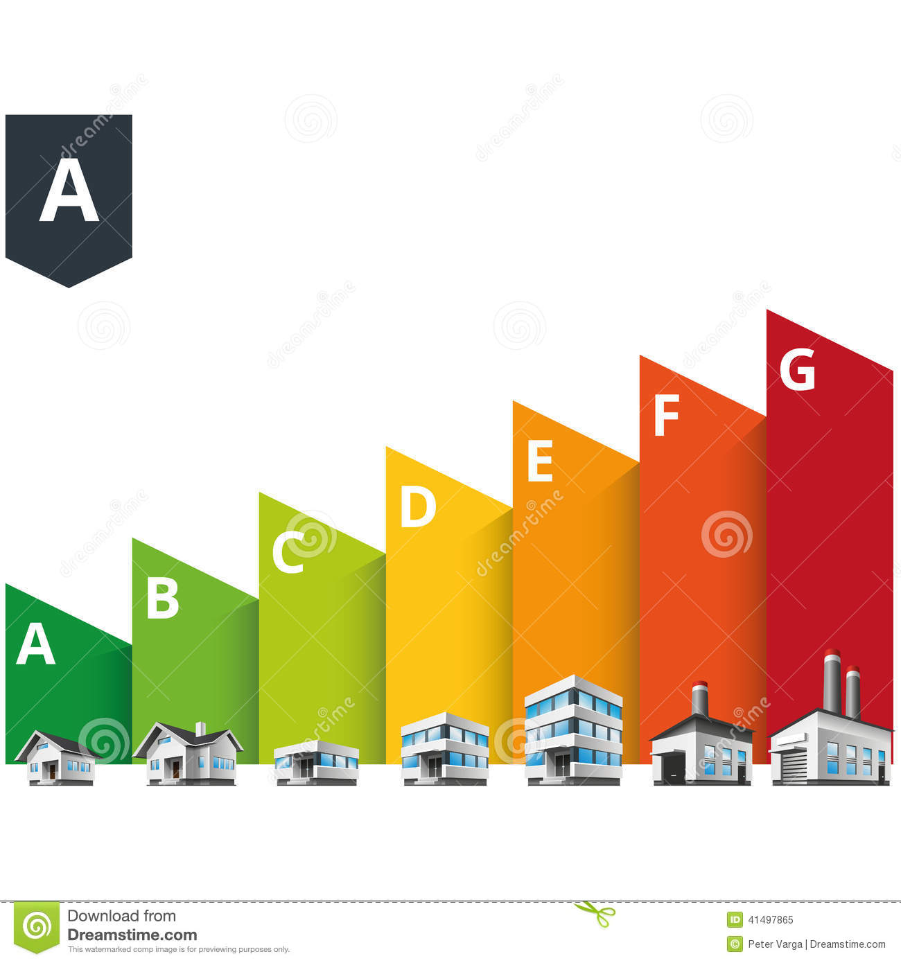 Delightful Building Energy Efficiency Classes Label Stock Vector   Illustration Of  Ecology, Efficiency: 41497865