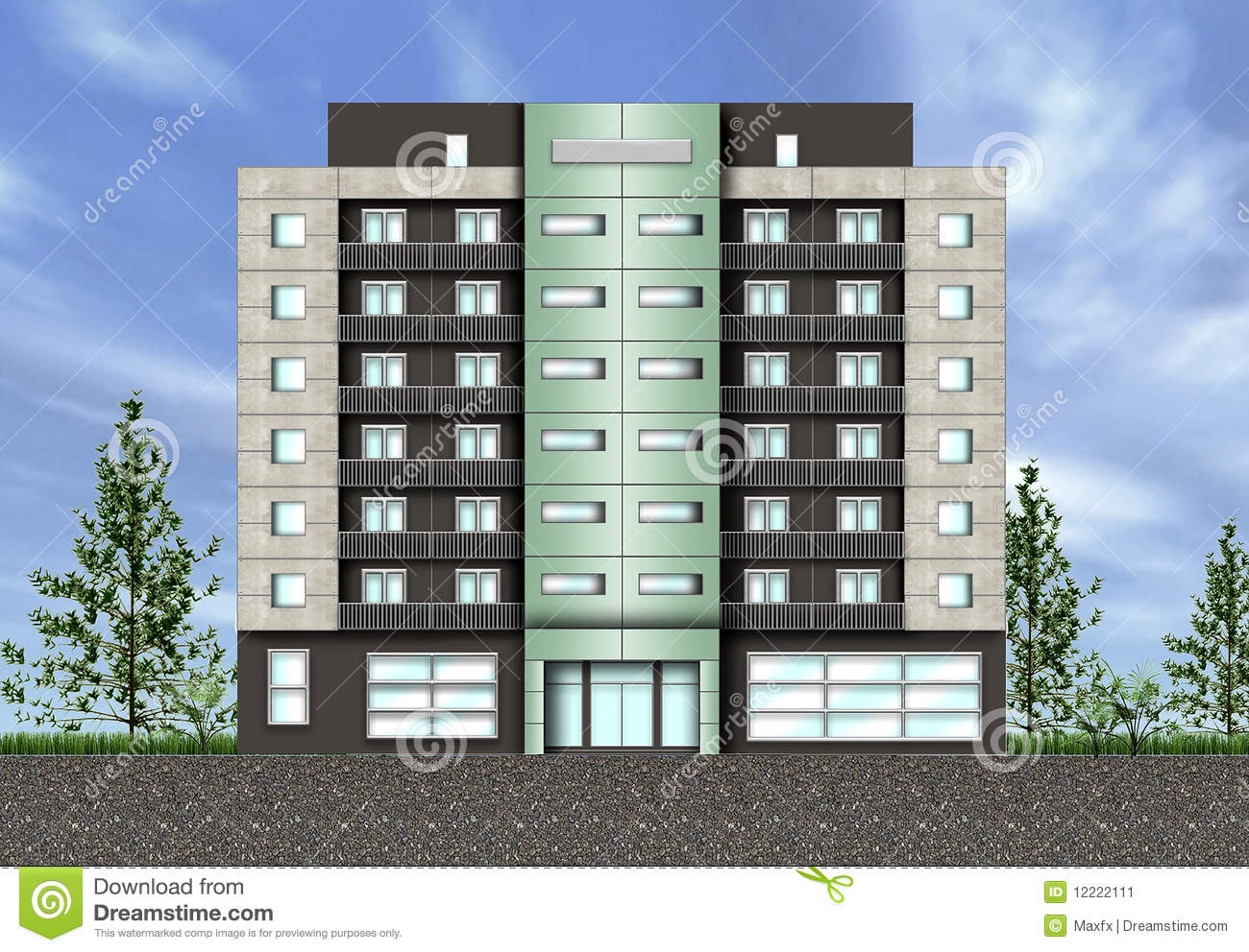 Building Exterior Stock Image Image 12222111