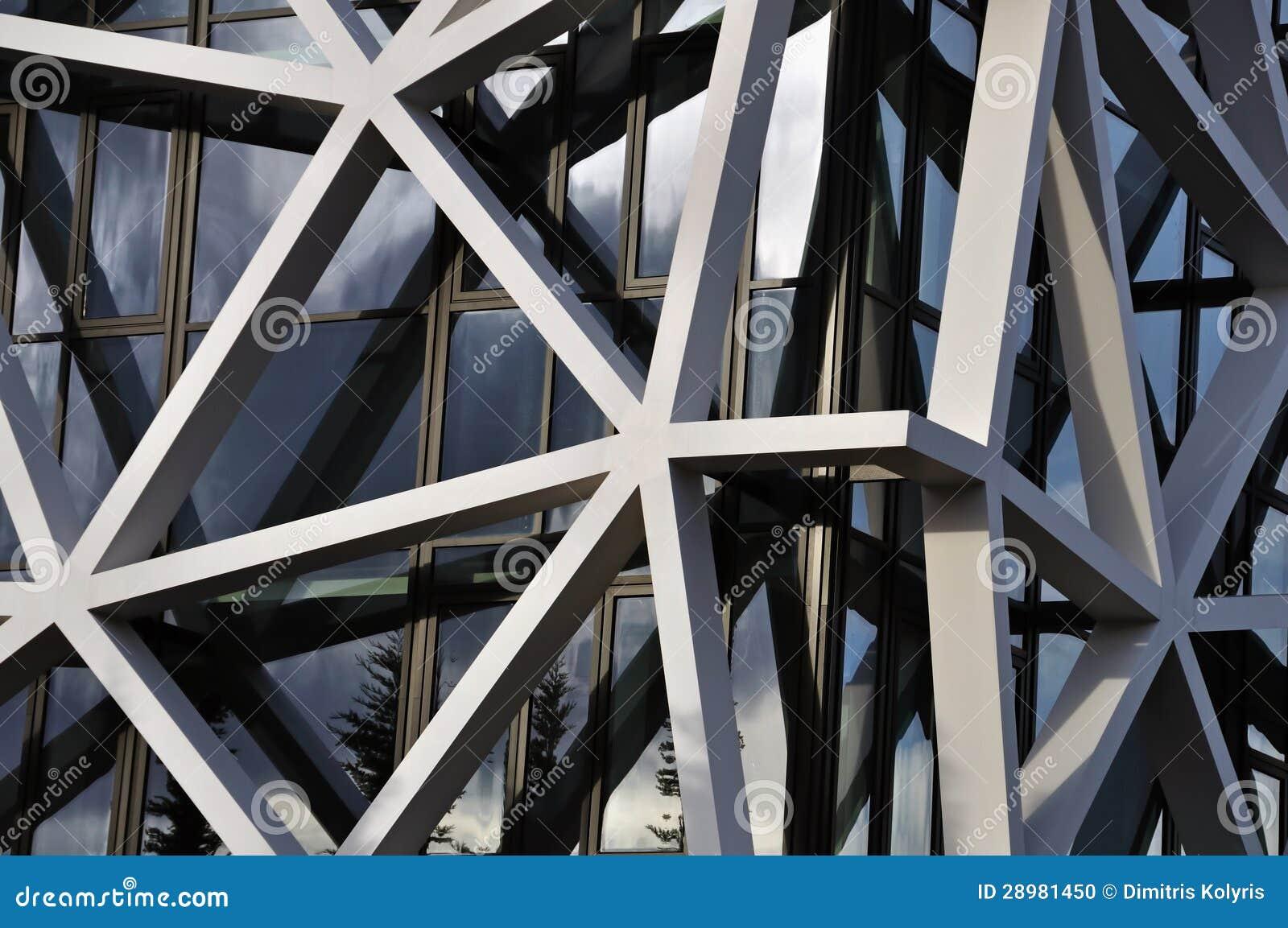 Building Facade With Asymmetric Pattern Stock Photo ...