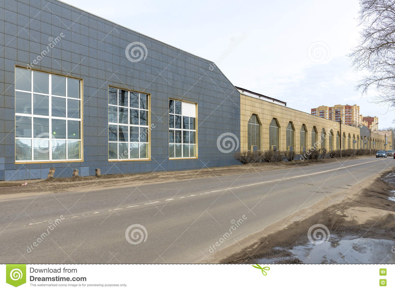 The building of the factory floor in Russia