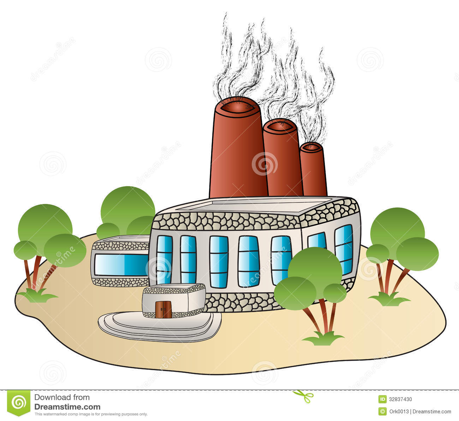 Cartoon Factory Building With Smoke | www.pixshark.com ...
