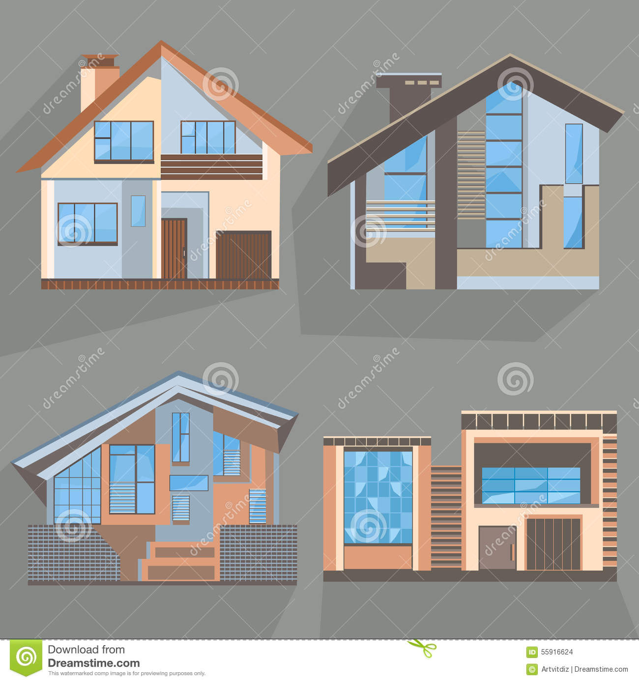 building flat style home office cottage shop building home office