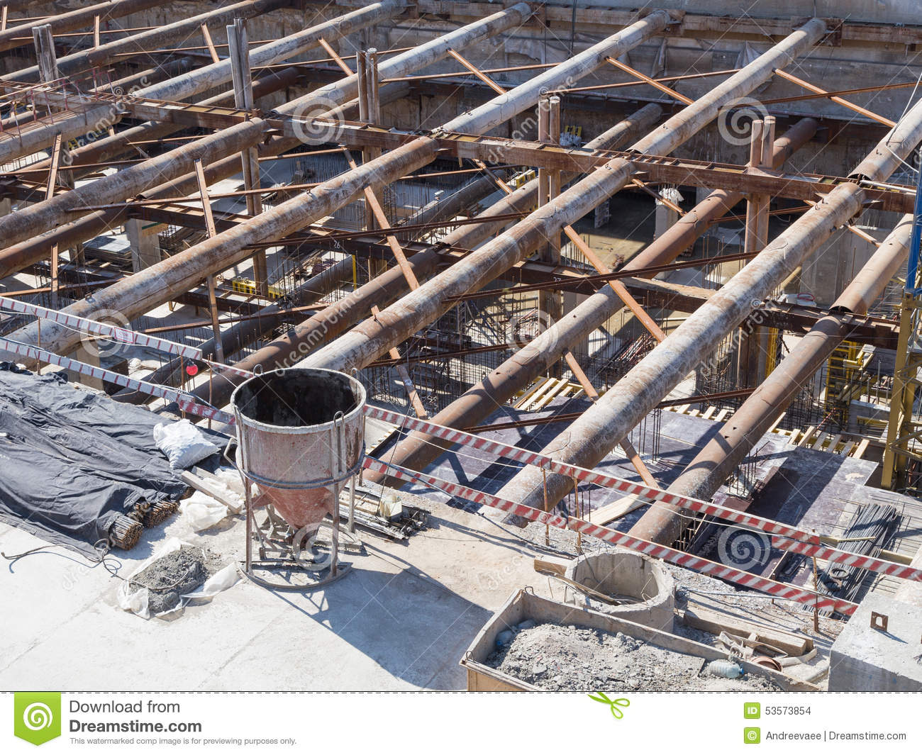 Building foundation stock photo image 53573854 for Post and pillar foundation