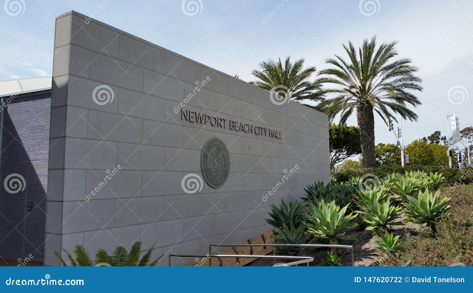 Newport Beach City Hall sign