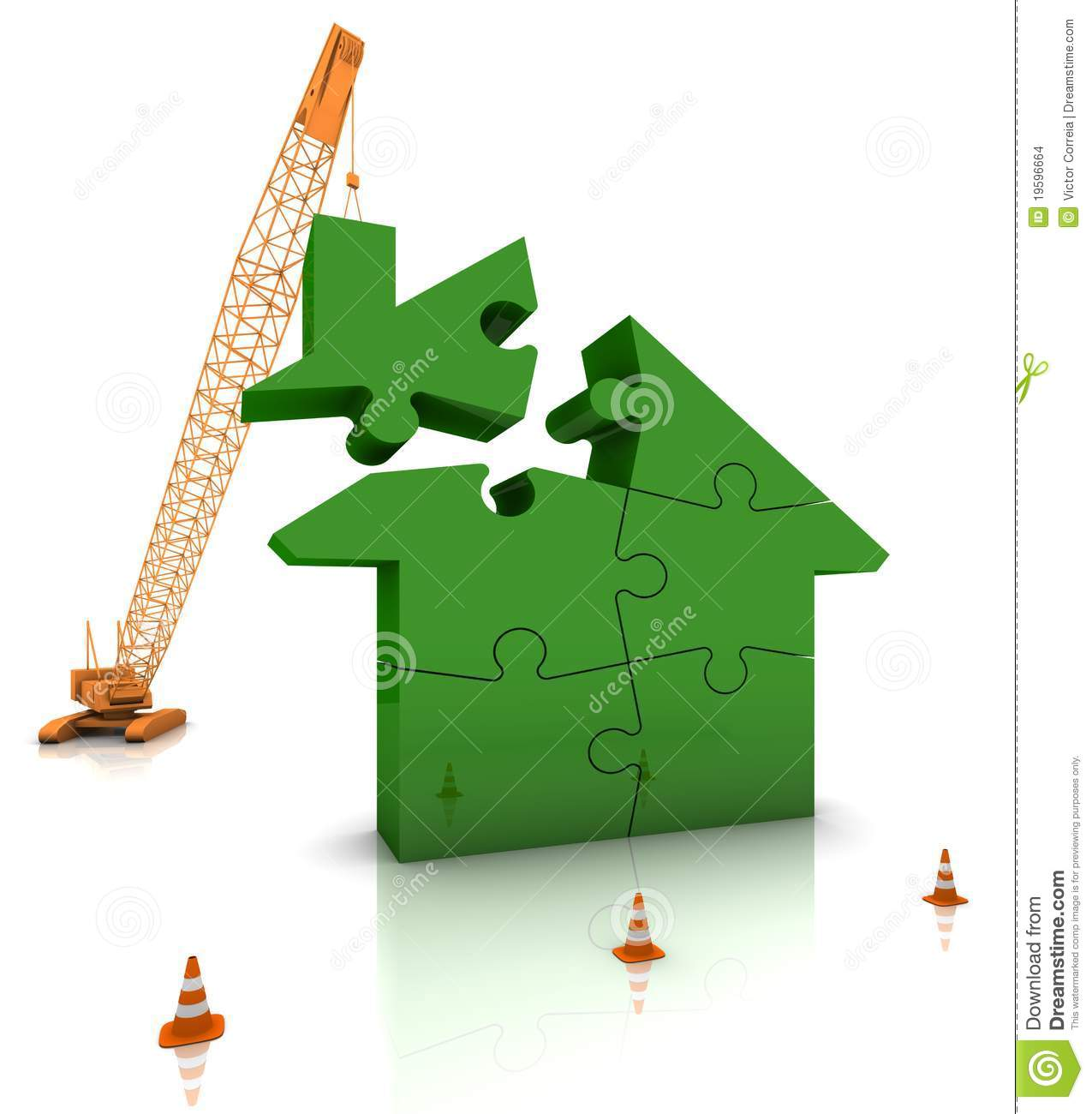 Building a green home stock images image 19596664 for Build a green home