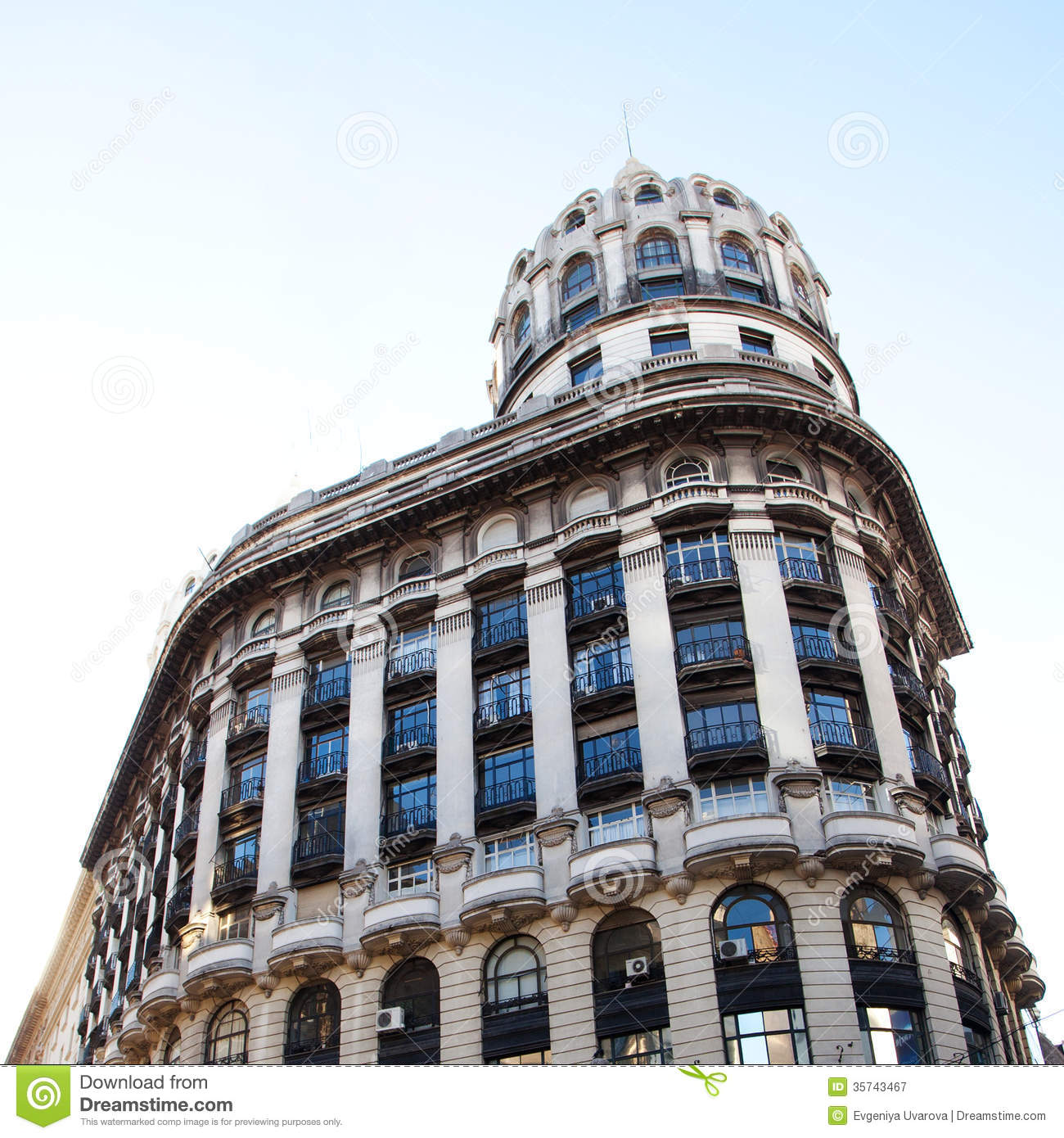 Habitually Chic Beautiful In Buenos Aires: Building In The Heart Of Buenos Aires, Argentina Royalty Free Stock Photography