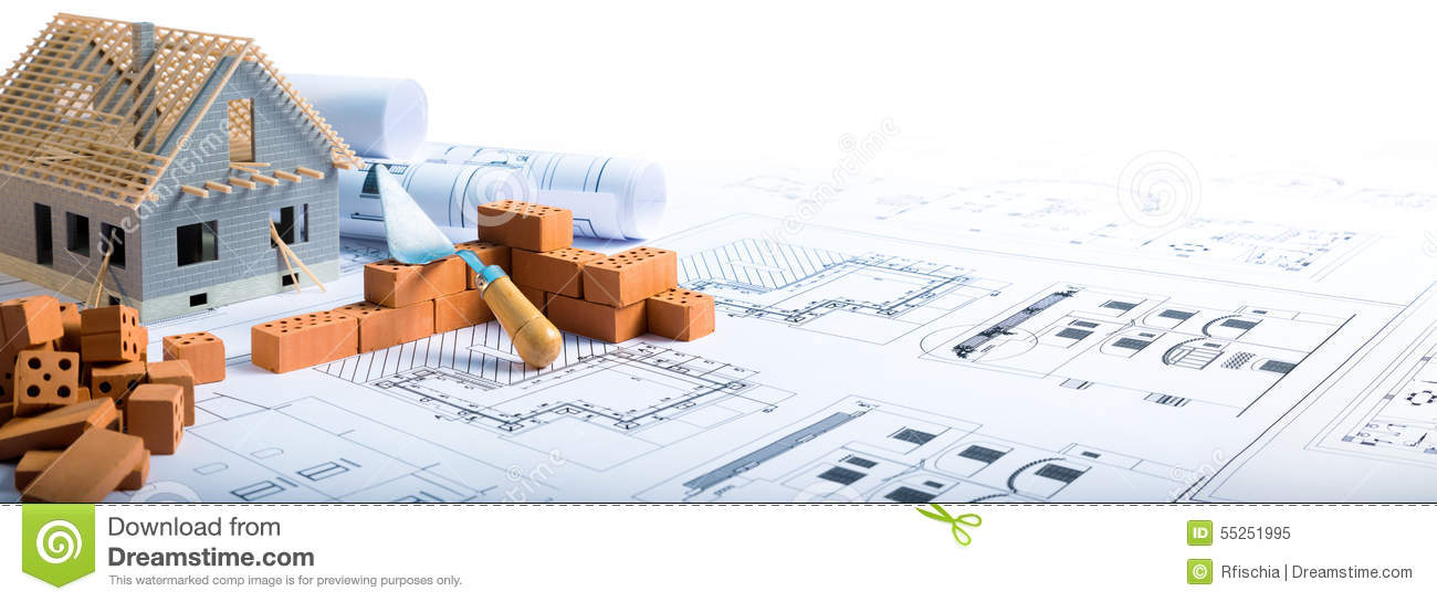 Download Building House - Bricks And Project Stock Image - Image of model, construction: 55251995