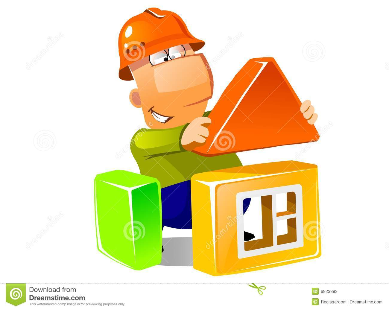 Building a house with construction modules stock photos for House builder
