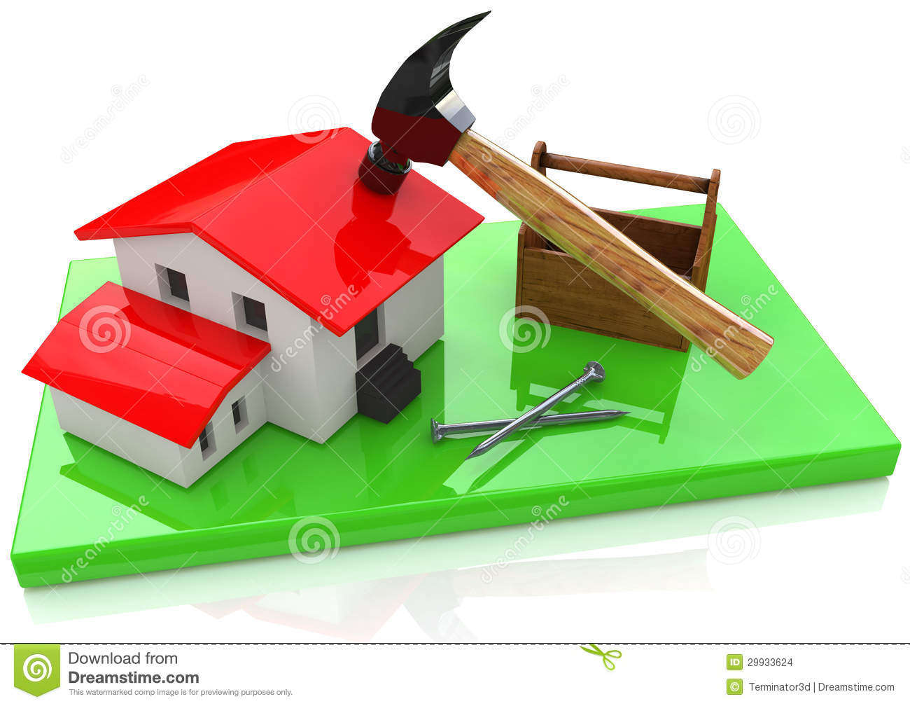 Building a house stock images image 29933624 for Building a dog kennel business