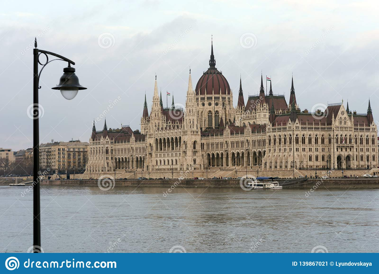 The building of the Hungarian Parliament on the banks of the Danube in Budapest is the main attraction of the Hungarian capital.