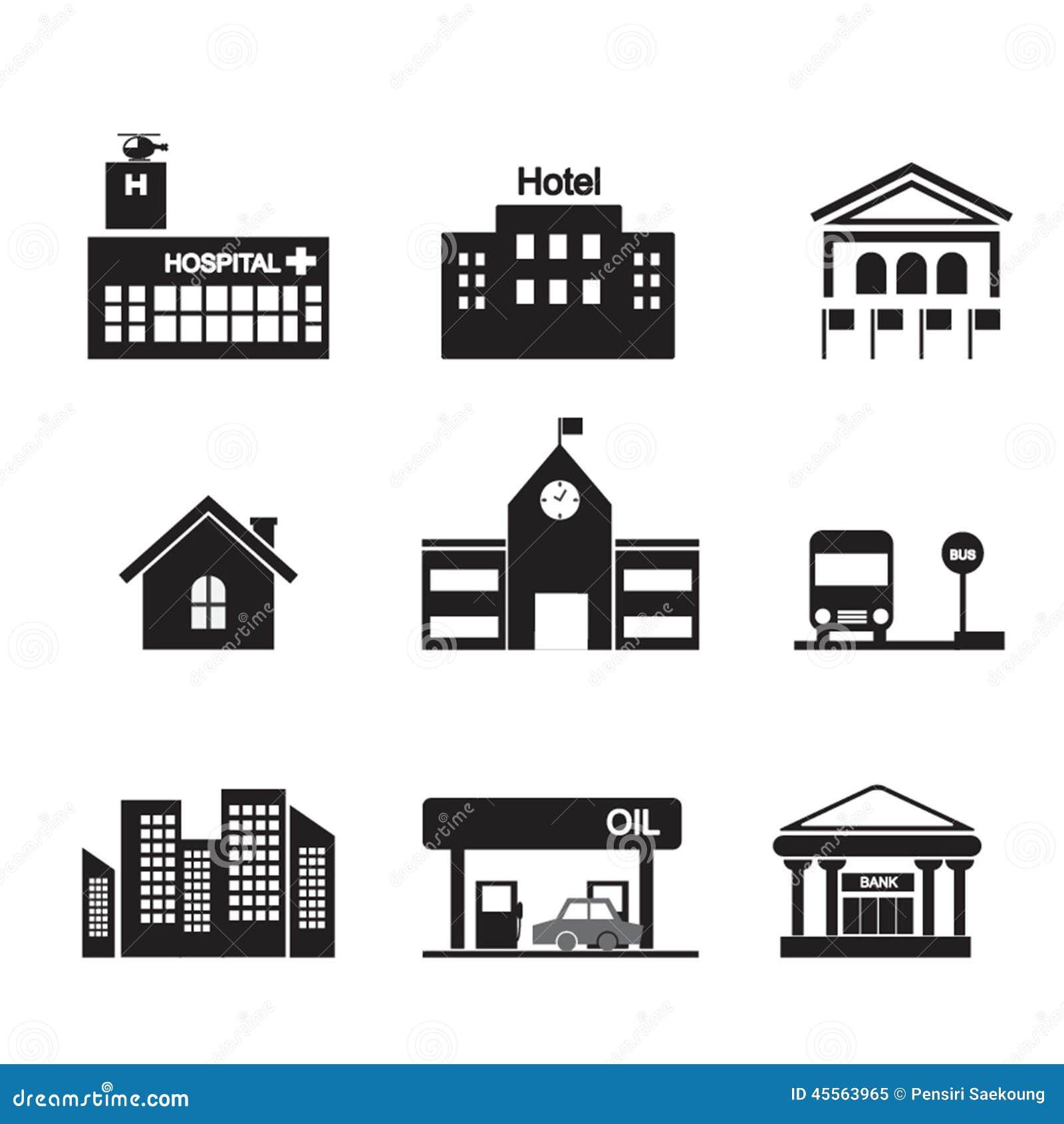 Building icon stock vector illustration of hospital 45563965 building icon biocorpaavc