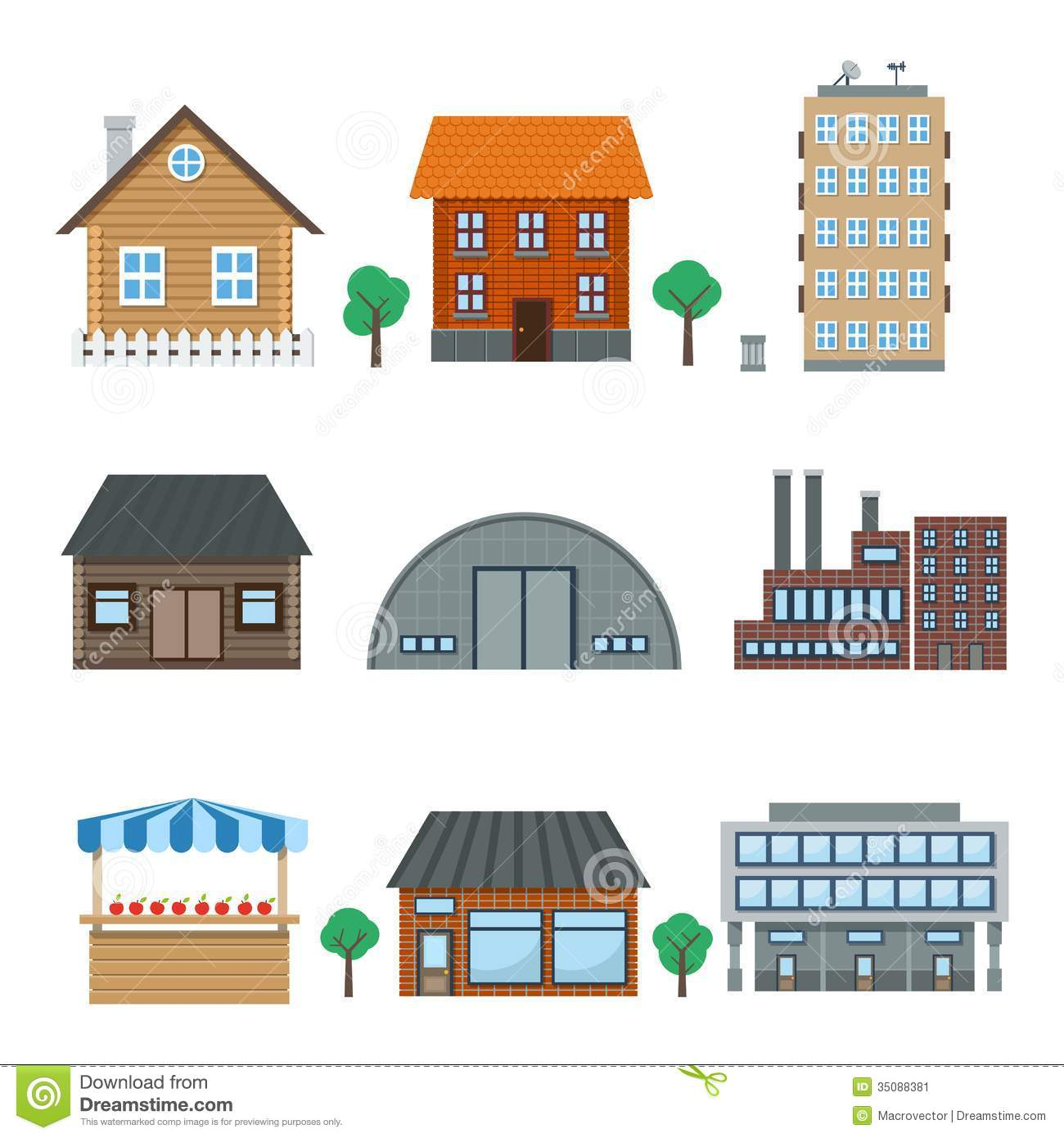 Building icons stock vector illustration of city symbol for House builder online free