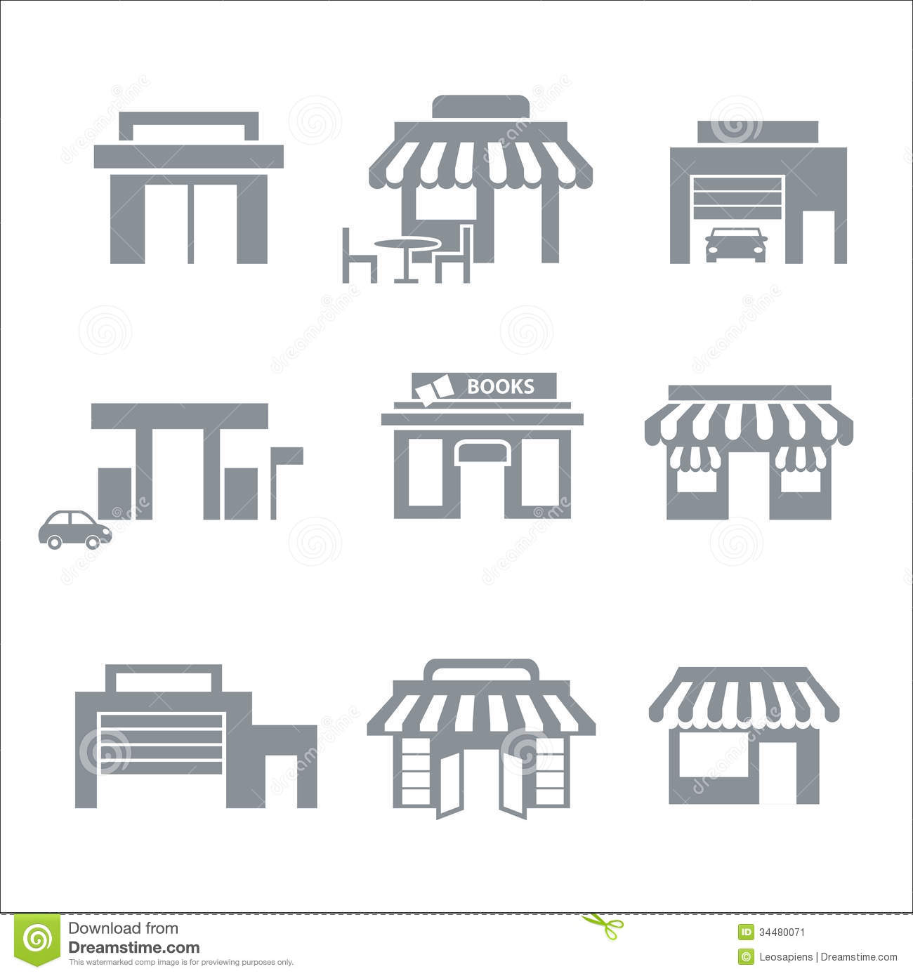 Building Icons Stock Vector Image Of Objects Structure