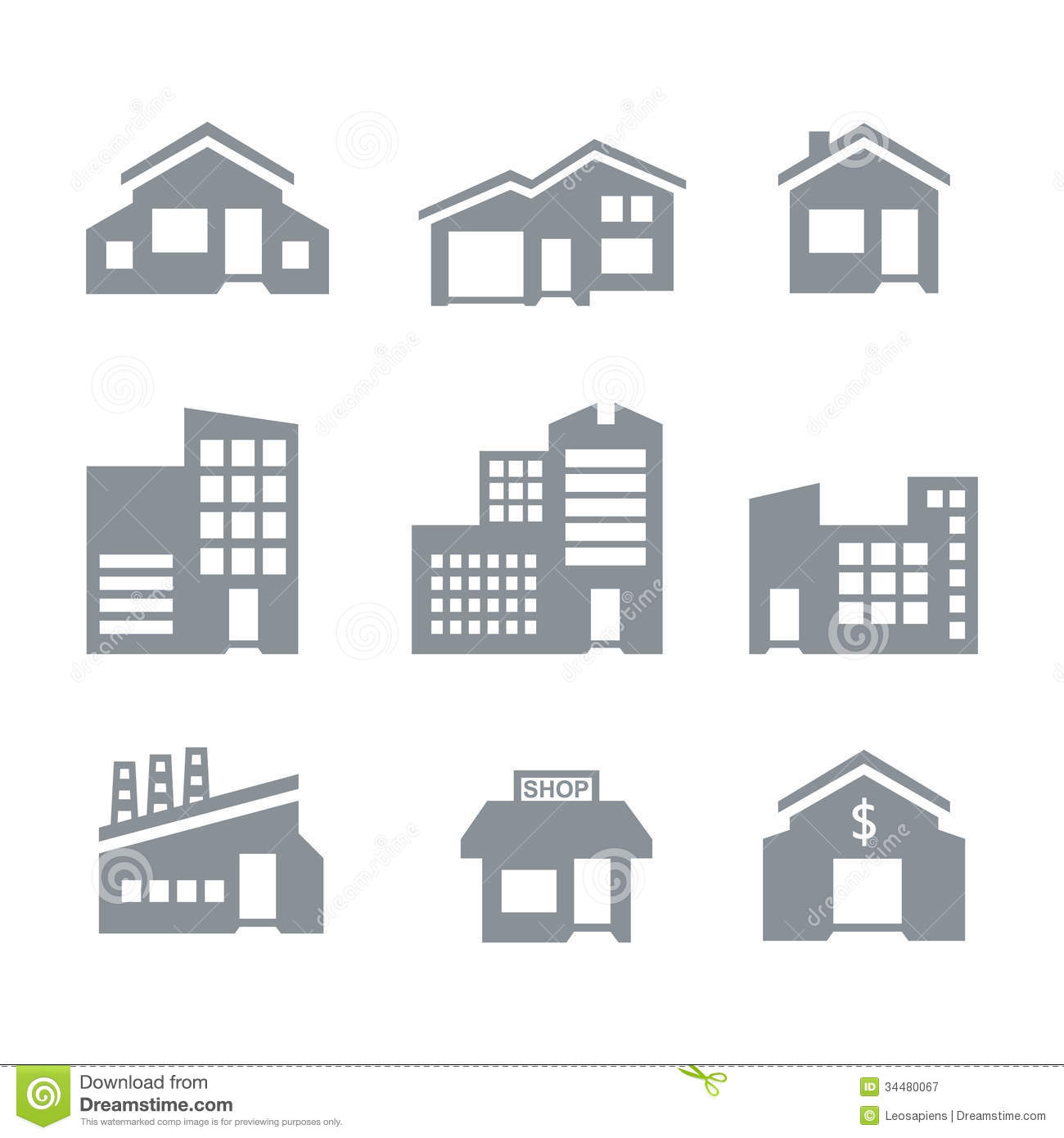 Building Icons Royalty Free Stock Photography Image