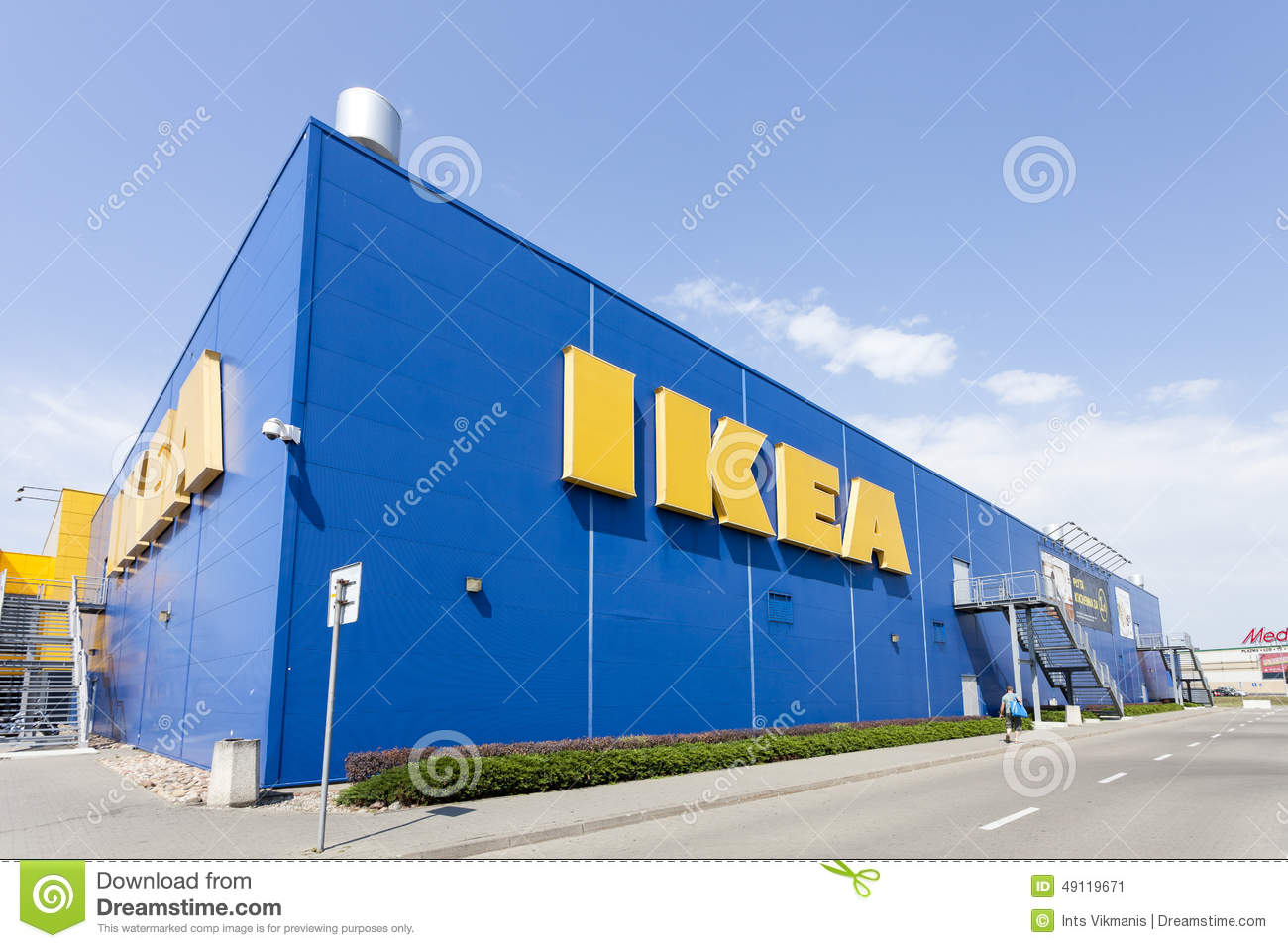Building Of The IKEA Store In Warsaw Poland