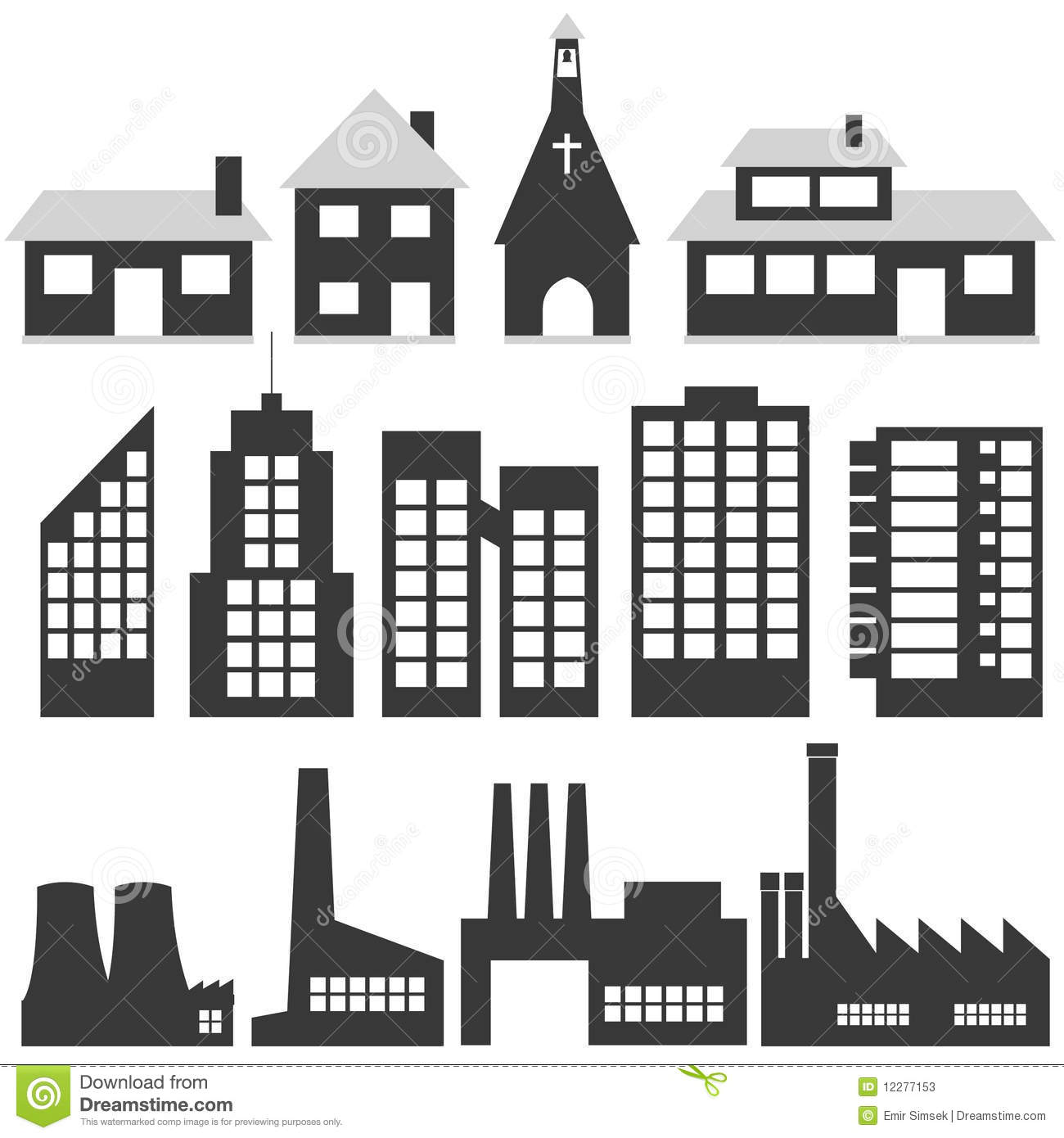 Building Illustrations Stock Photos - Image: 12277153