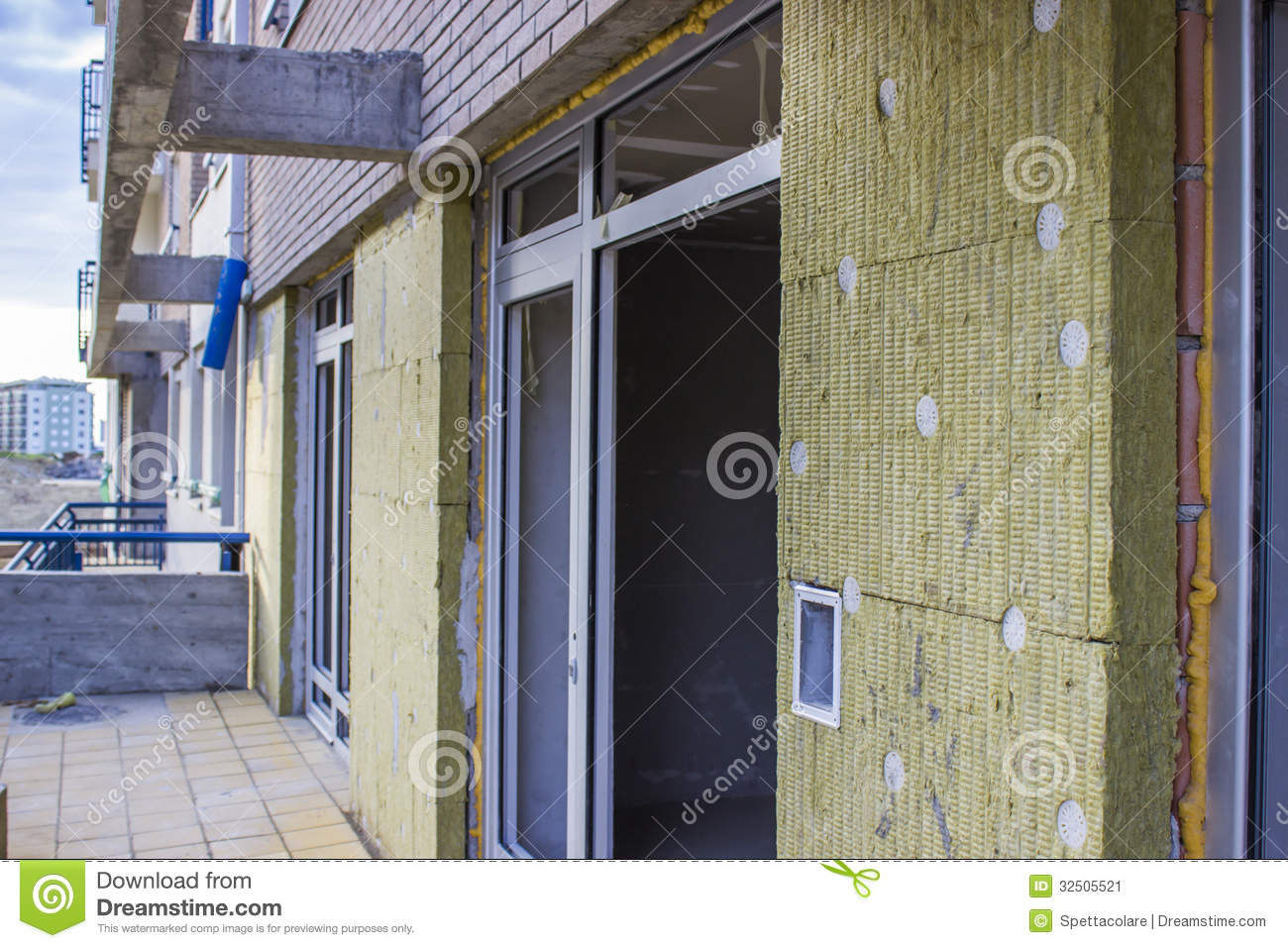 Building insulation stock image image 32505521 for Wool house insulation