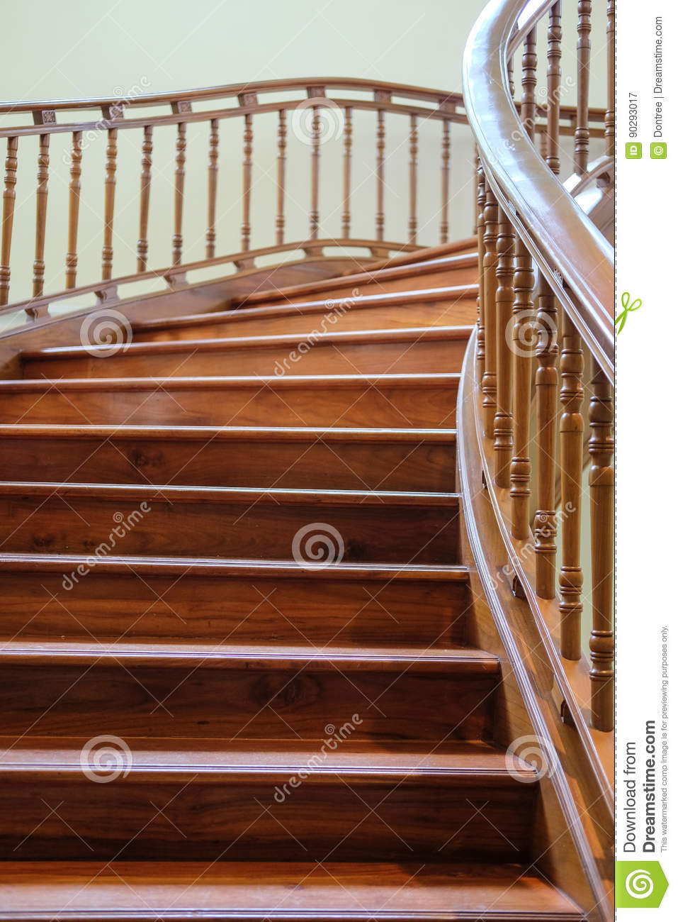 Room Construction Design: Building Interior Empty Room Design Staircase Wooden Stock
