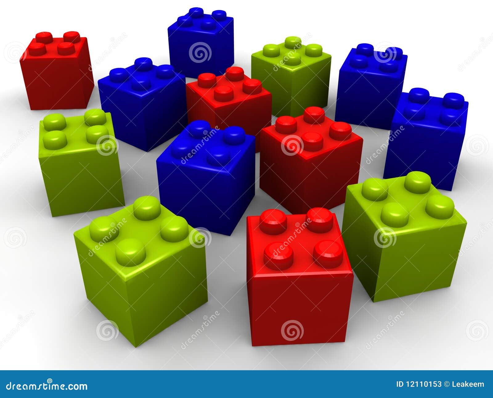 building lego blocks stock illustration image of join 12110153. Black Bedroom Furniture Sets. Home Design Ideas
