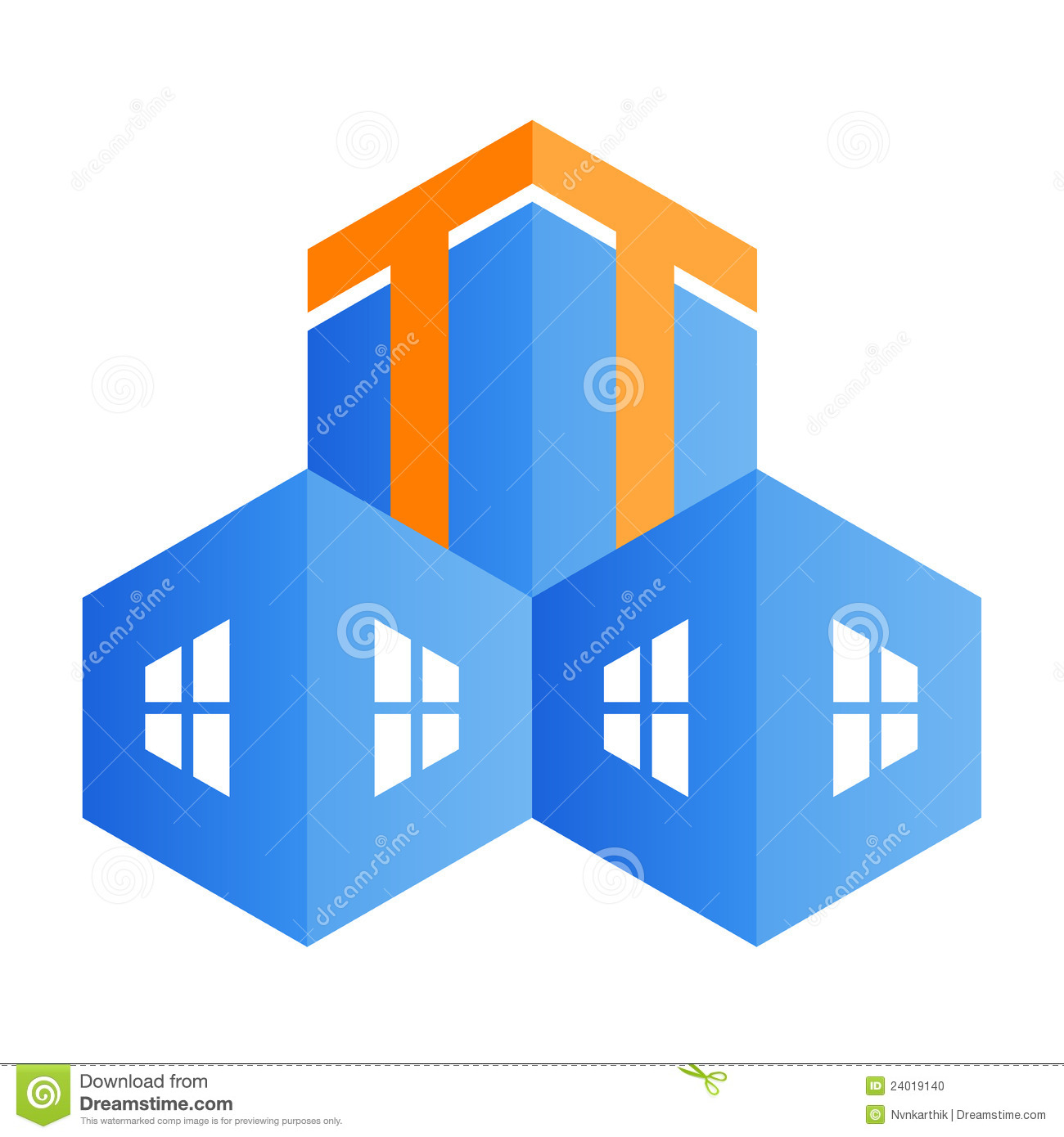 Building Logo Stock Vector Image Of Decorative Design