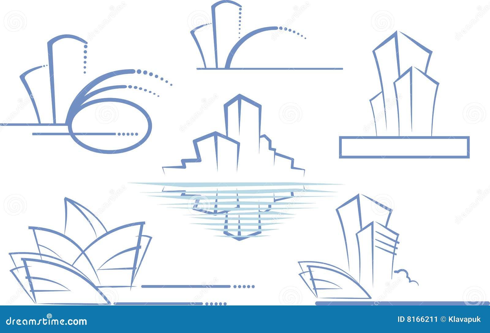 Home Design App Exterior Building Logo Stock Image Image 8166211