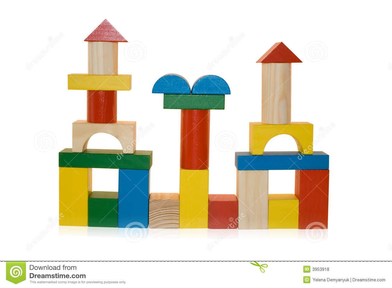 Building Made By Wooden Blocks Royalty Free Stock Photos - Image ...