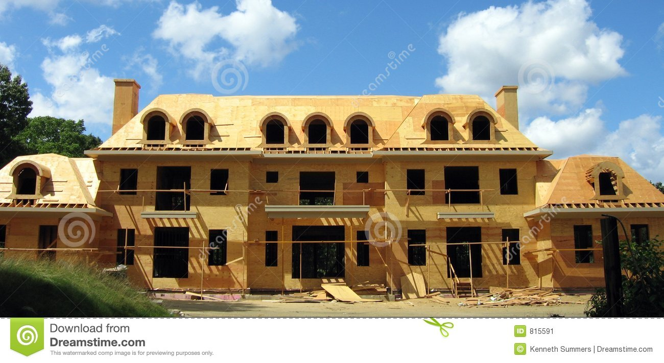 Building The Mansion Stock Image Image 815591