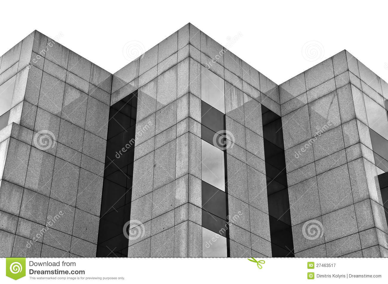 Black Marble Buildings : Building marble and glass facade stock image