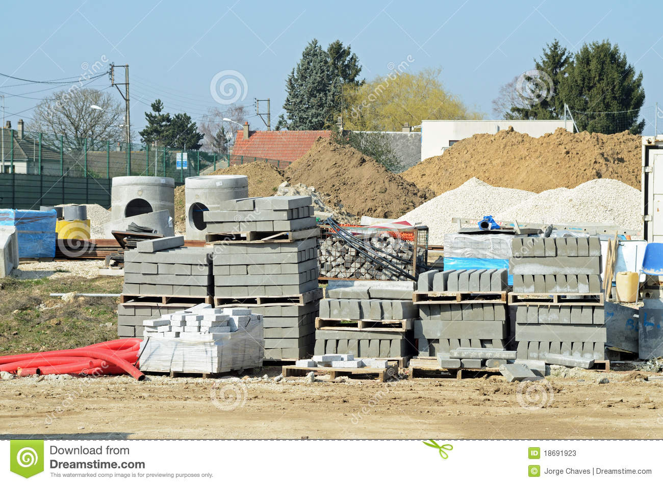Building Materials Amp Building Supplies : Building materials stock image of works town