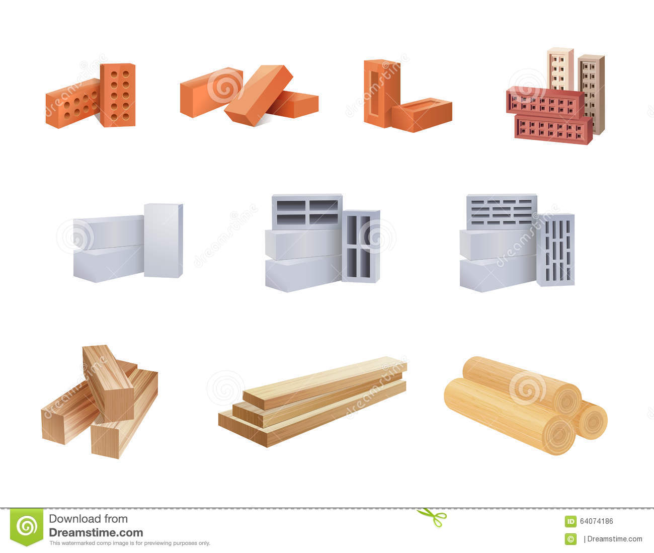 Building materials icons stock illustration illustration for Construction materials cost
