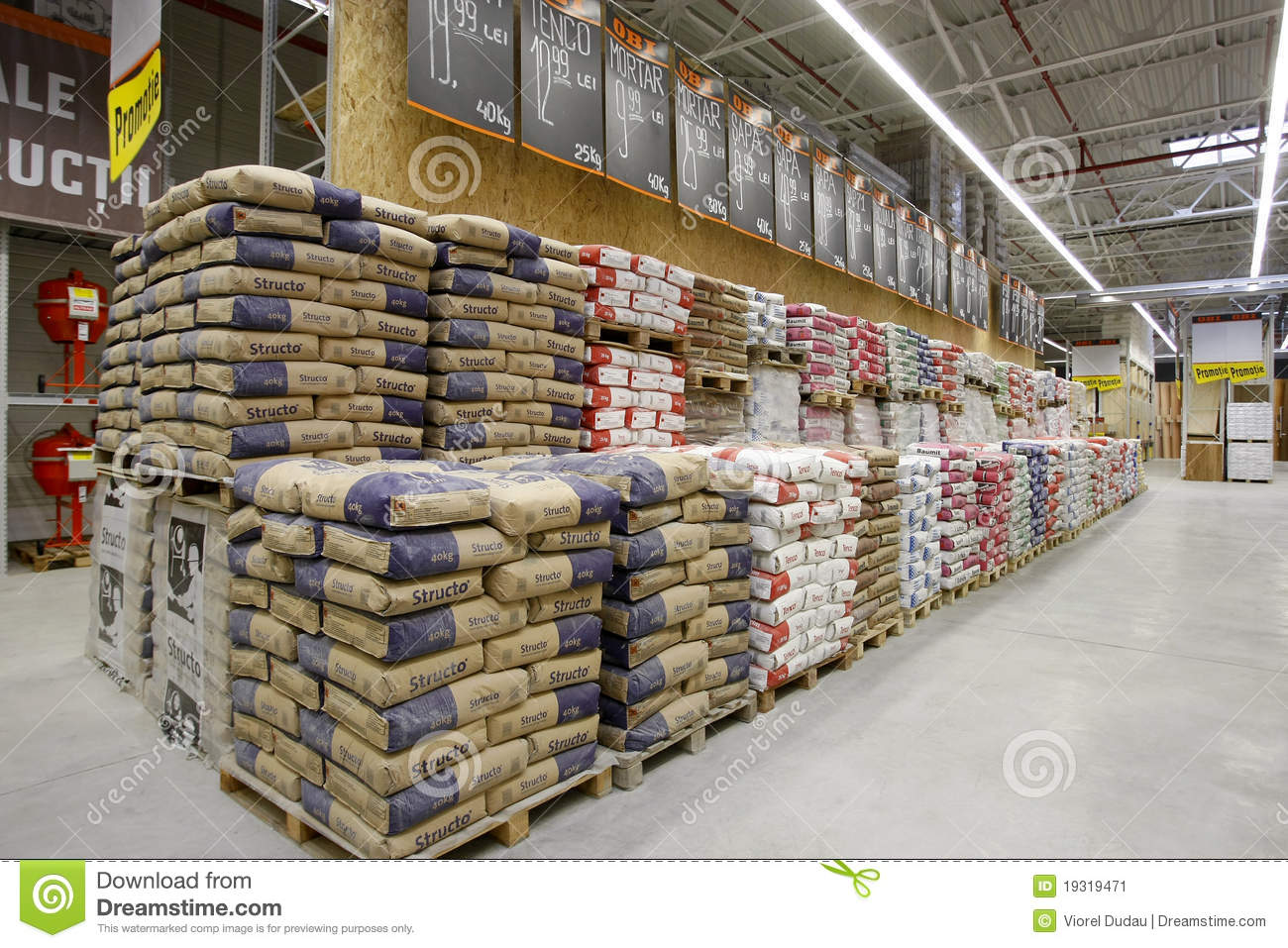 Cement Building Materials : Building materials store editorial photo image of cement