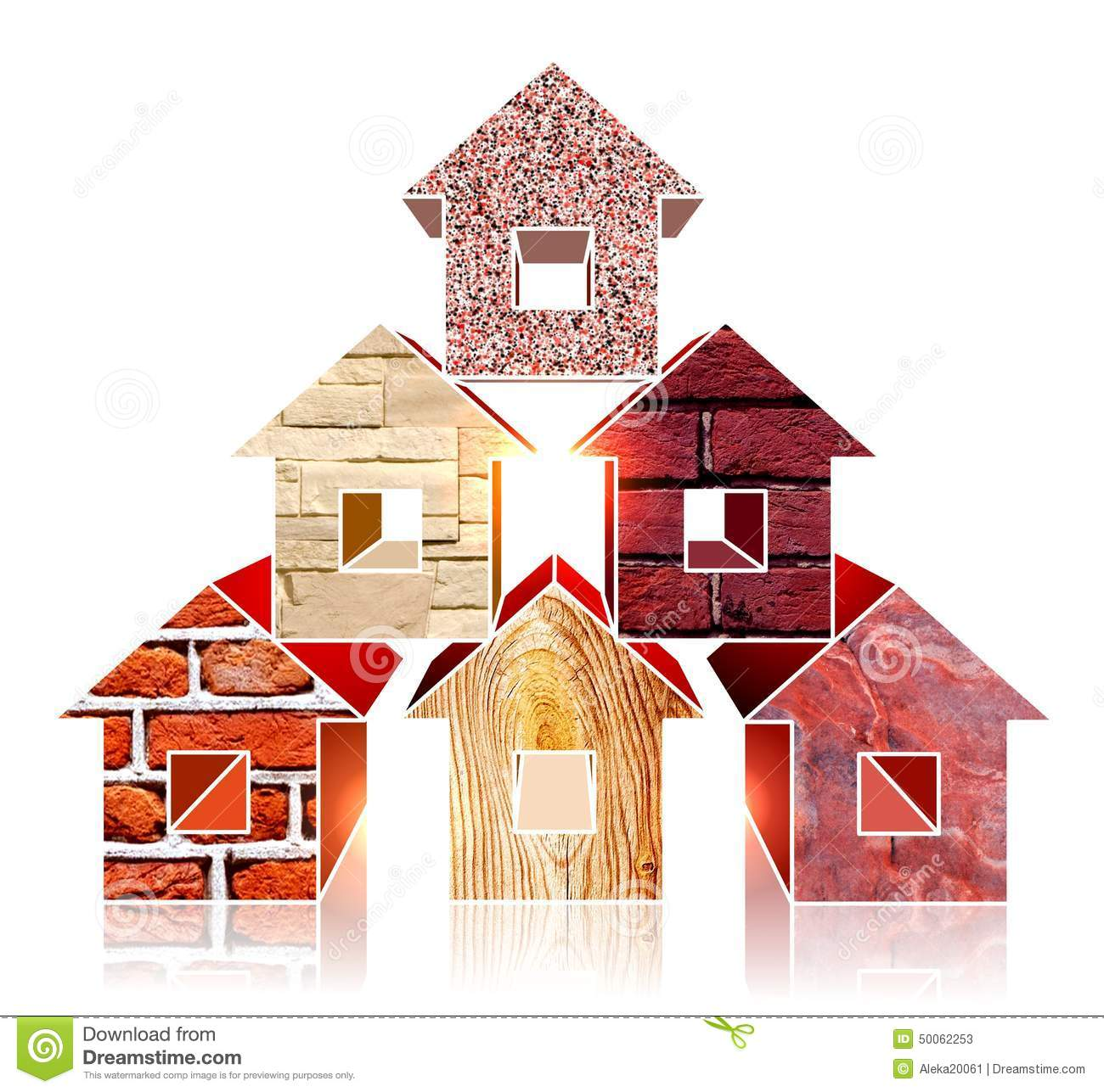 Home Building Materials : Building materials stock image of granite house