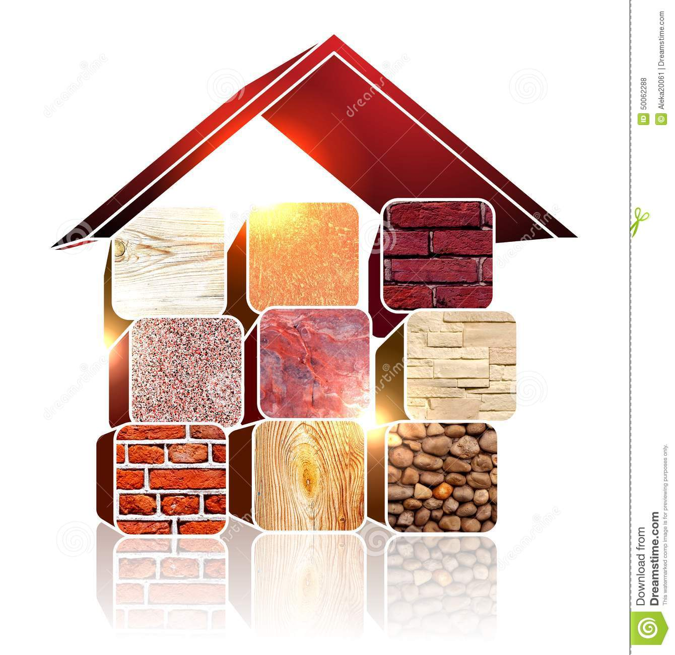 Building materials stock photo image of construction for House building options