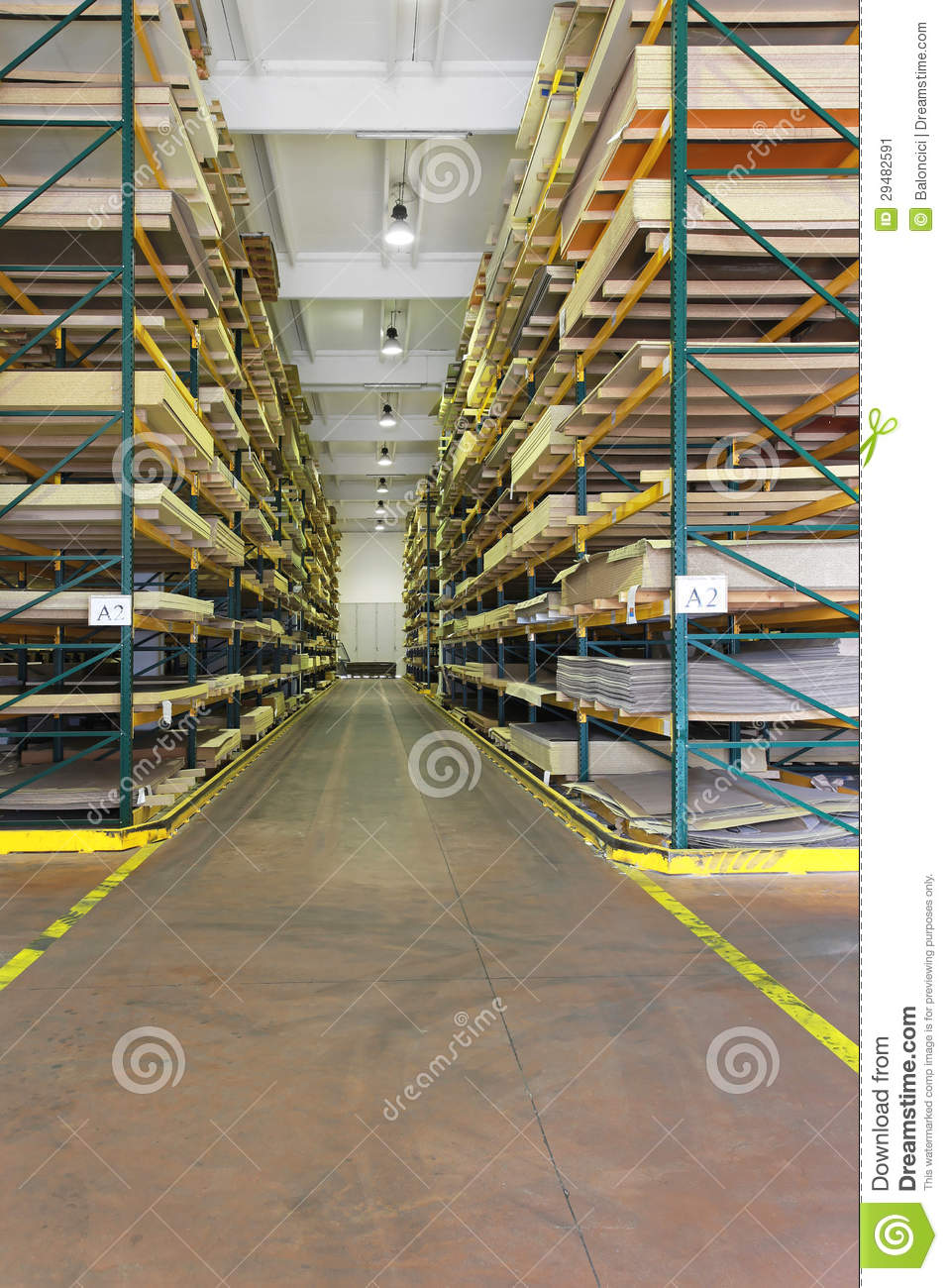 Building Materials Warehouse Stock Image Image Of Wood