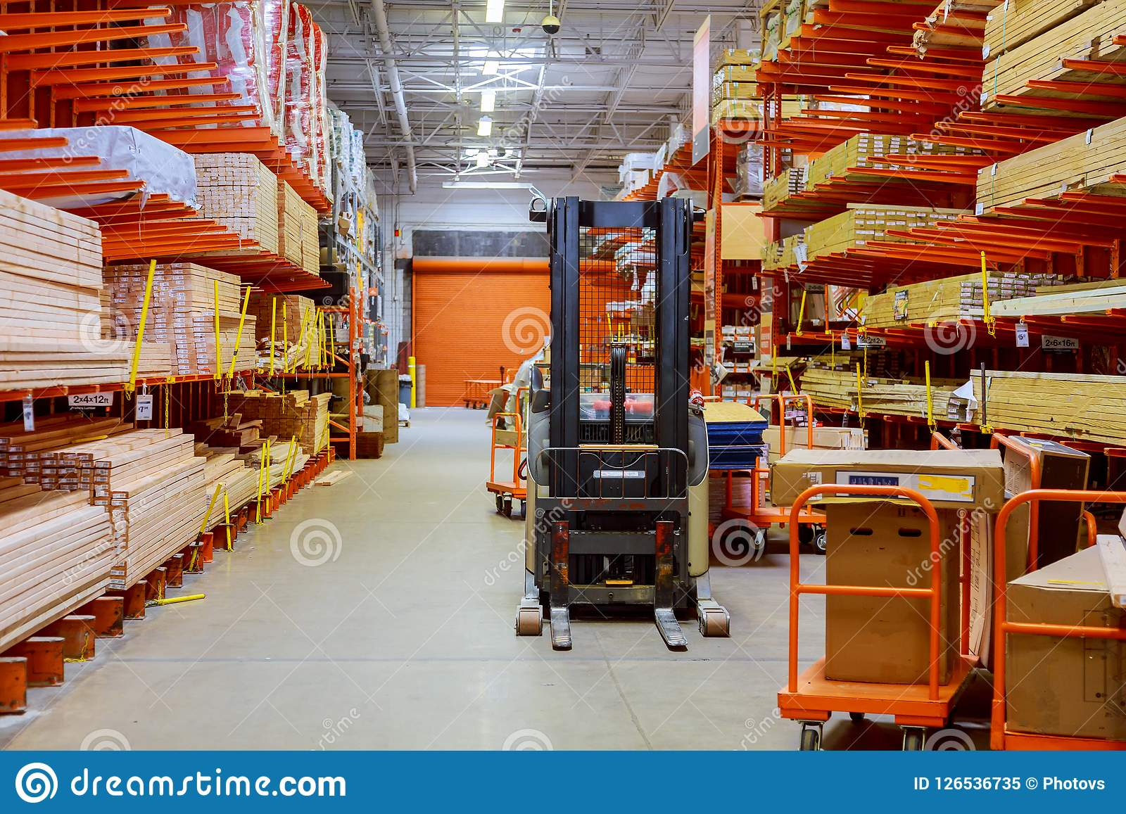 Building Materials Warehouse, Logistics Concept
