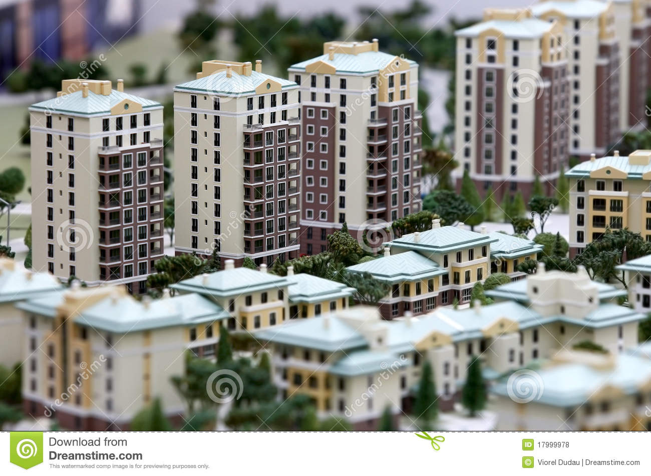 Building miniatures real estate stock photo image of for Building an estate
